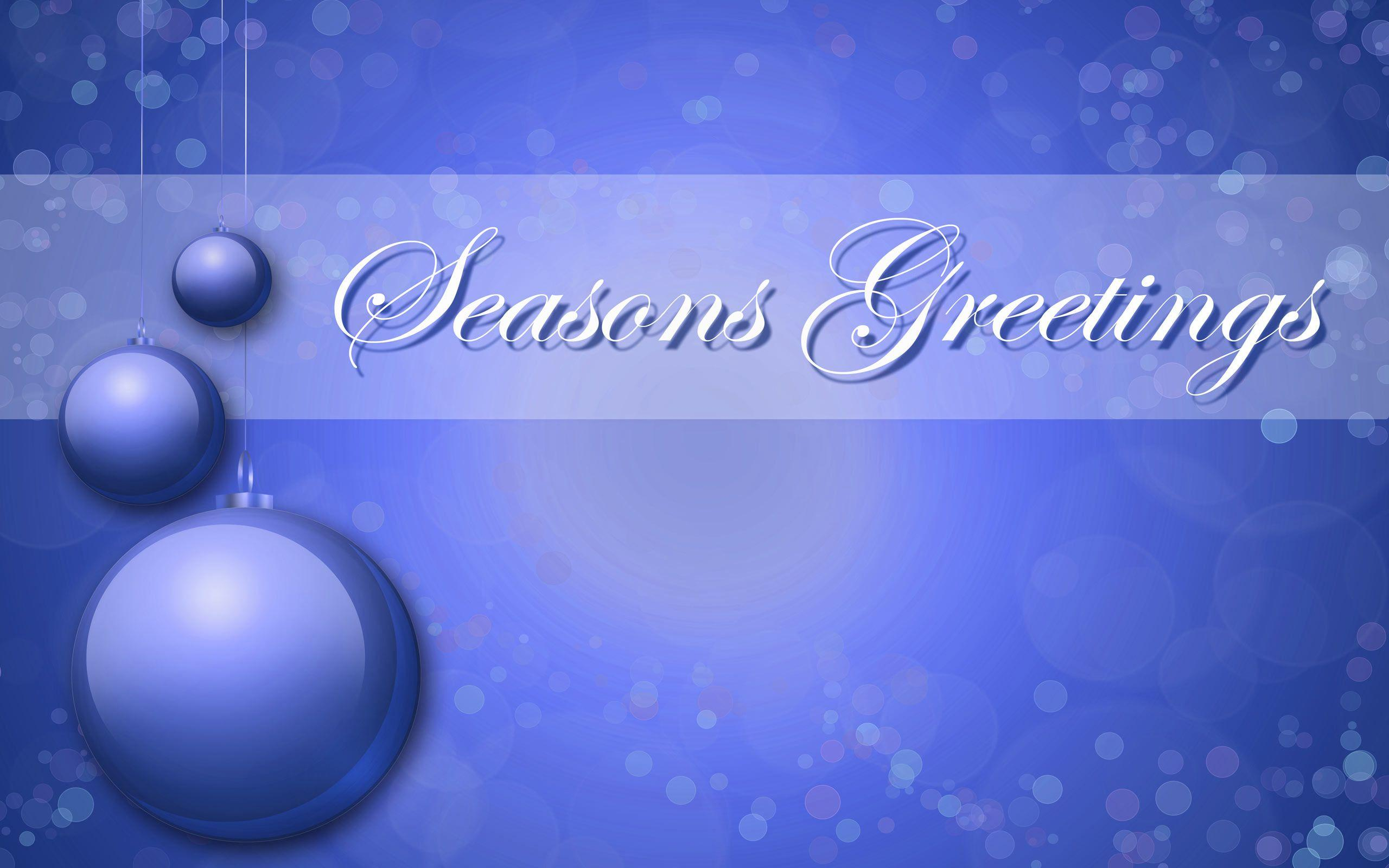 Seasons Greetings Wallpapers -...