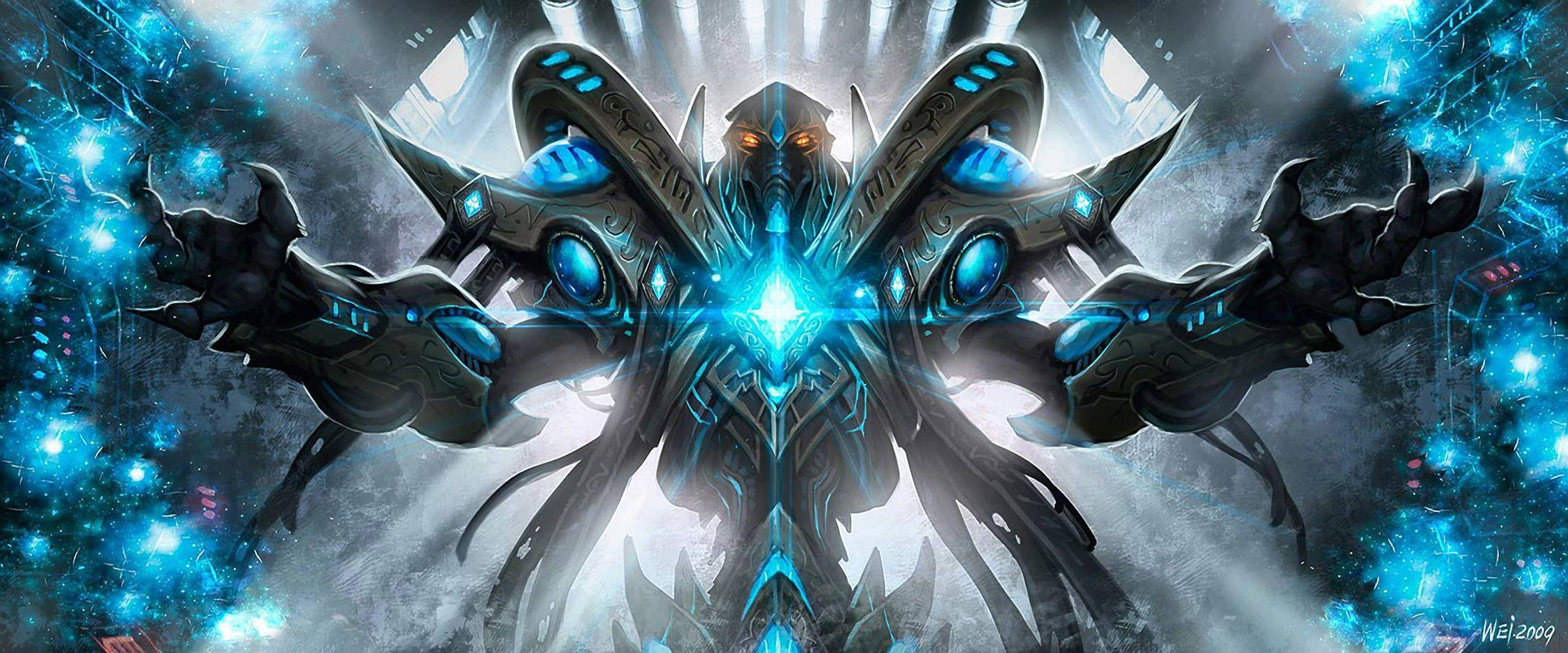 Starcraft Protoss 2400x1000 Wallpaper 803624