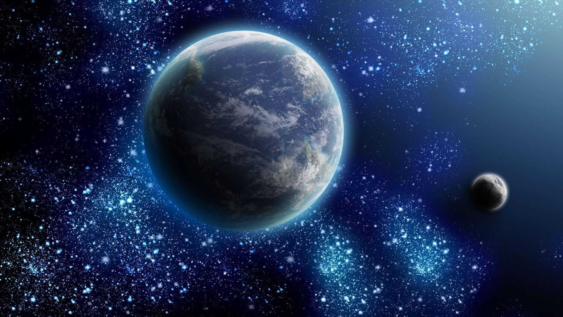 real planets and stars background - photo #14