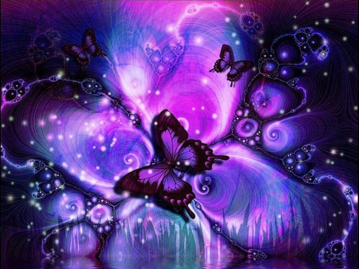 Purple Butterflies Wallpapers - Wallpaper Cave