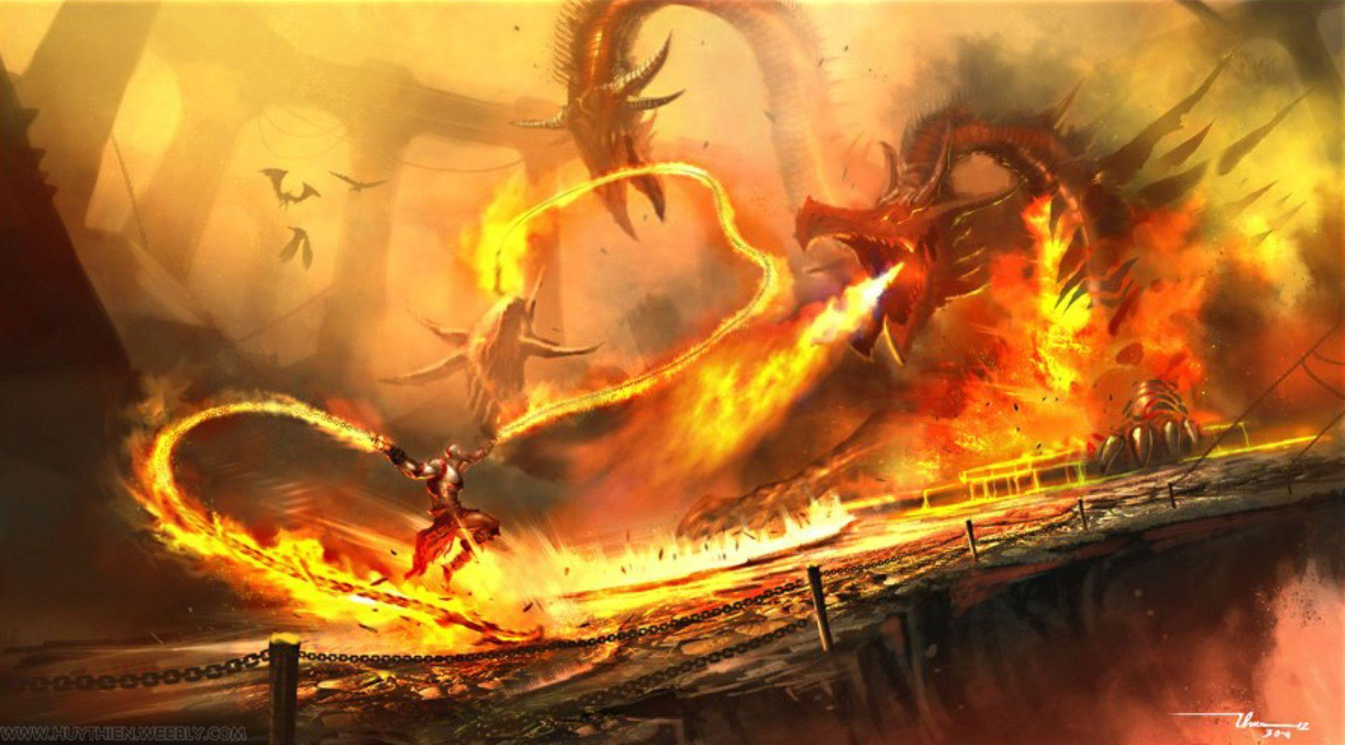 Wallpapers For > Awesome Dragon Fighting Backgrounds