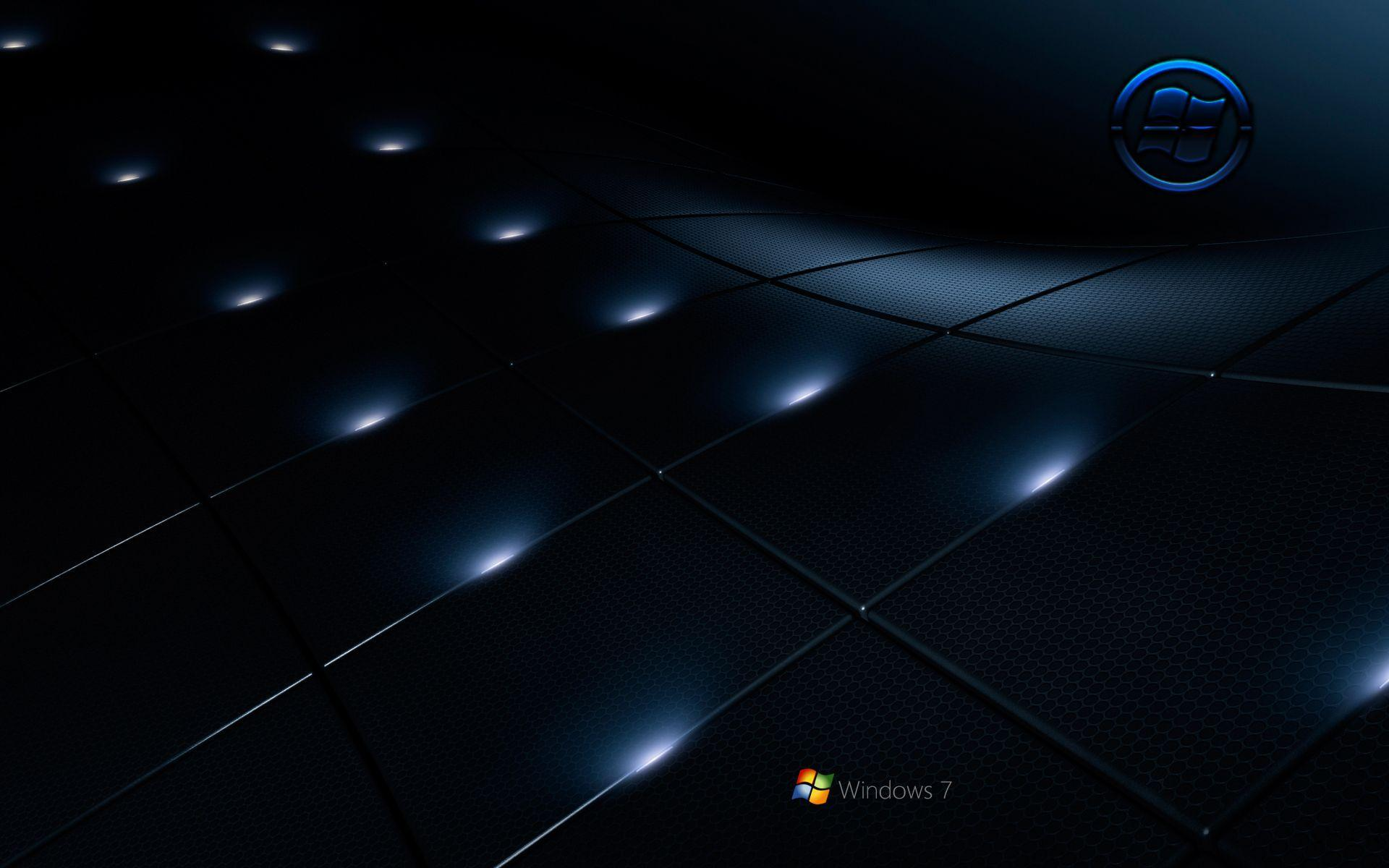 Windows 7 black wallpapers wallpaper cave for Black 3d wallpaper