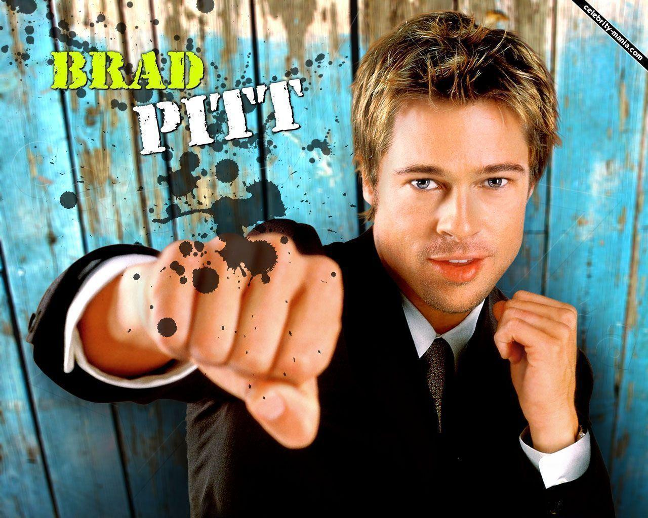 Brad Pitt Widescreen Background Wallpaper - Celebrities Powericare.