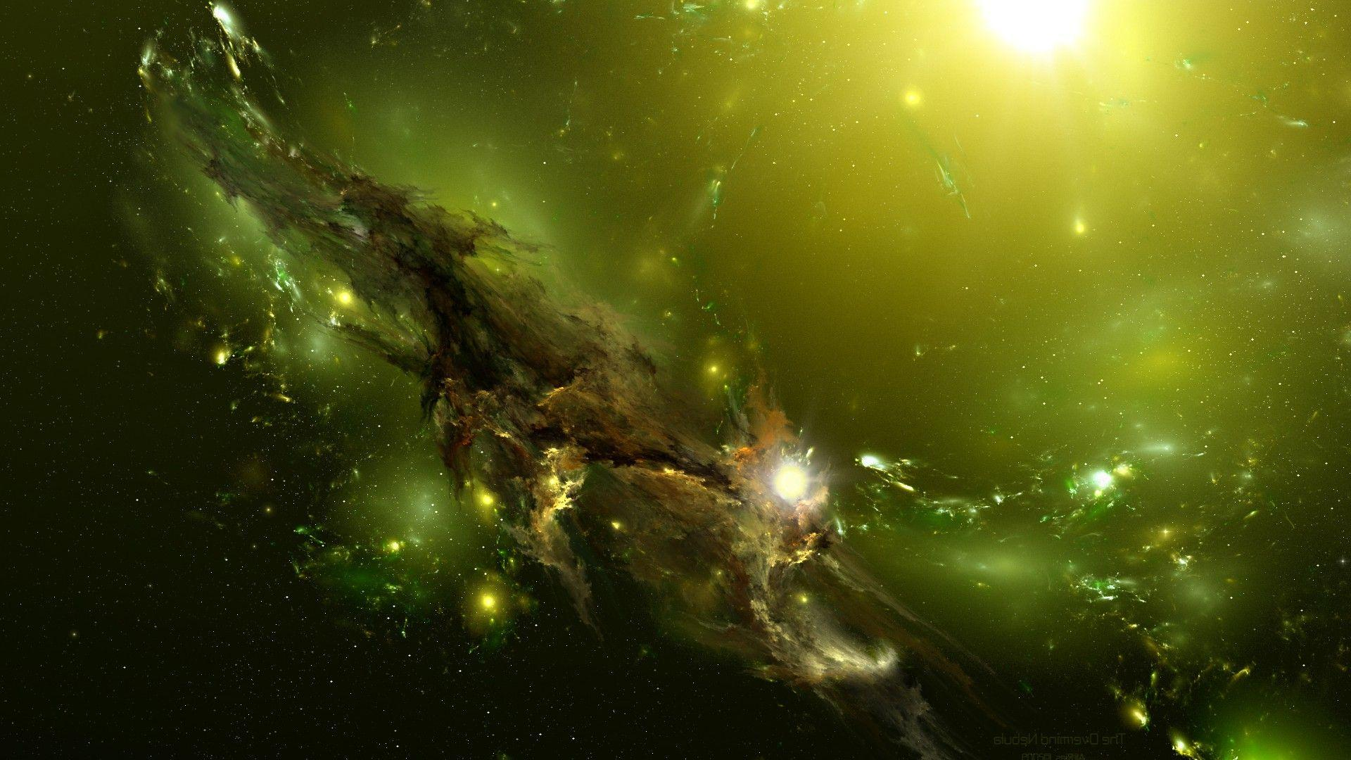 green high resolution nebula wallpaper - photo #22