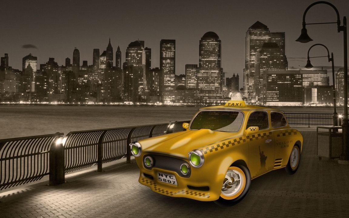 New York City Yellow Cab widescreen wallpapers