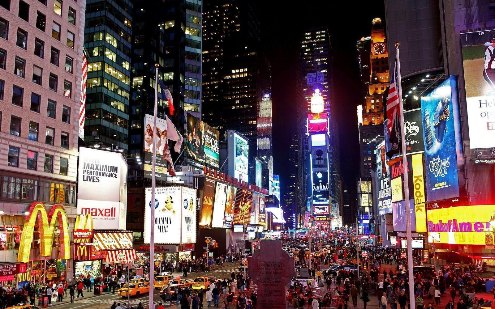 Times Square HD Wallpaper For PC #14399 Wallpaper | Risewall.