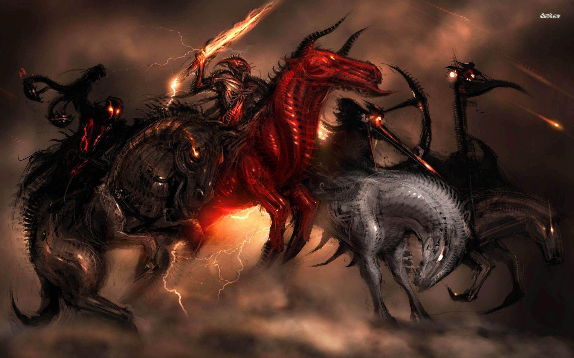 The Four Horsemen Of The Apocalypse Wallpapers Wallpaper