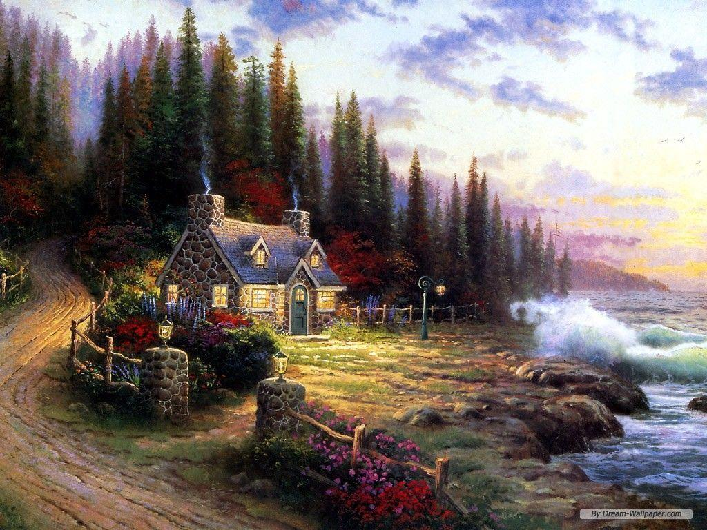 kinkade summer wallpaper drawing - photo #42