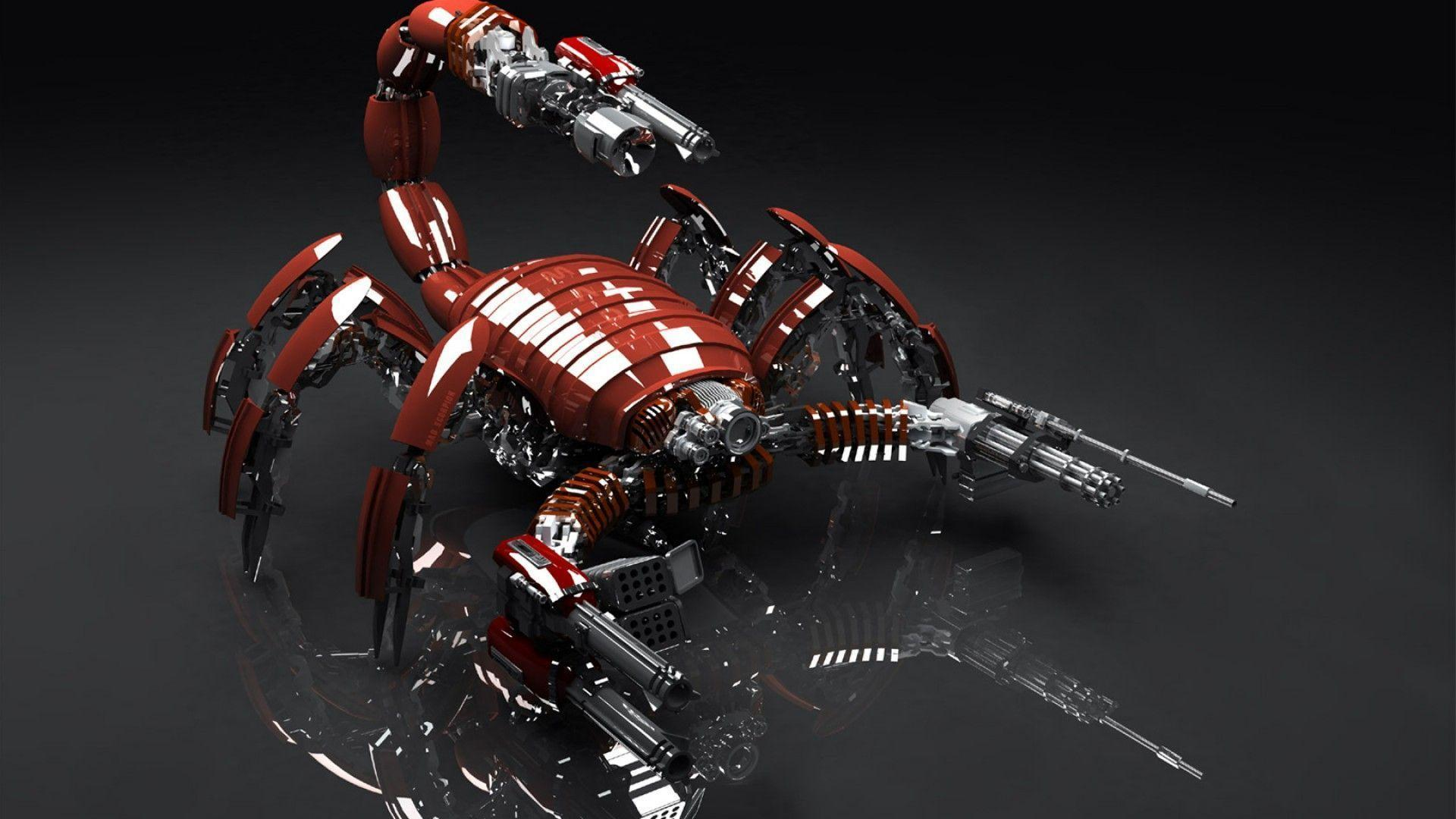 3D Red Scorpion Robot Wallpapers Image Wallpapers