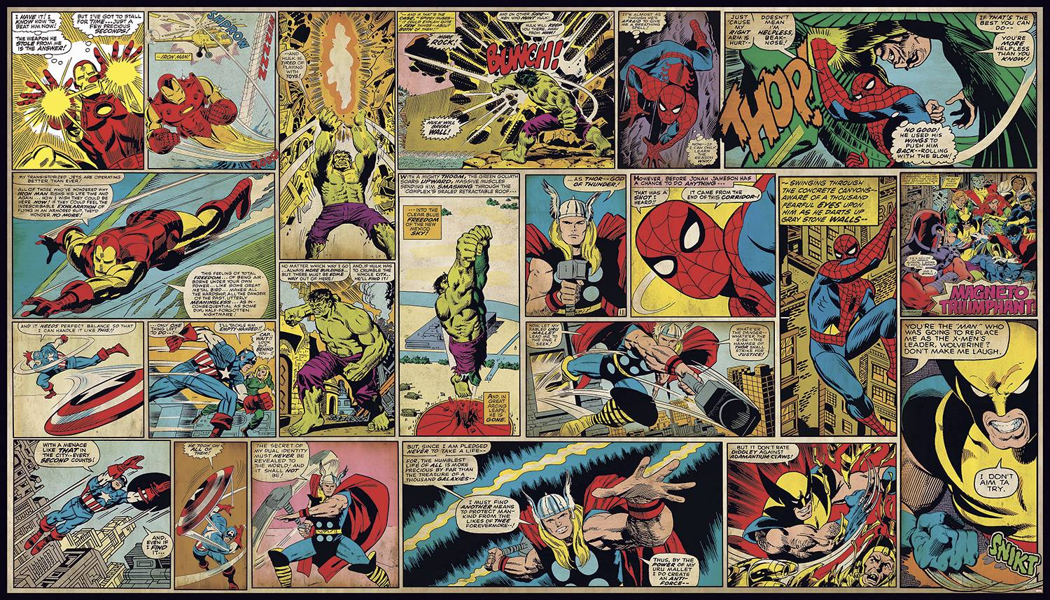 Marvel Comic Wallpapers - Wallpaper Cave Vintage Comic Book Background