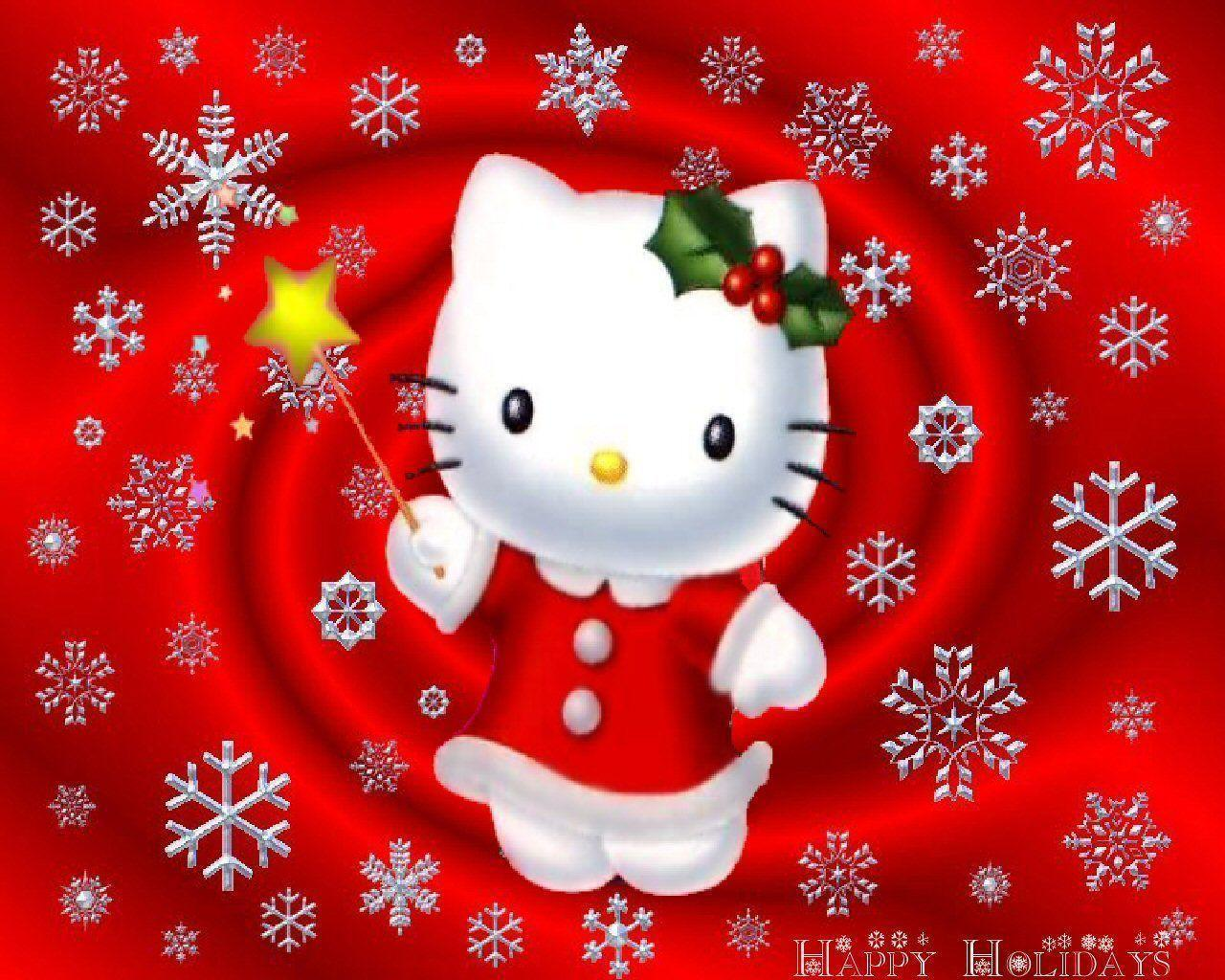 hello kitty christmas wallpapers wallpaper cave