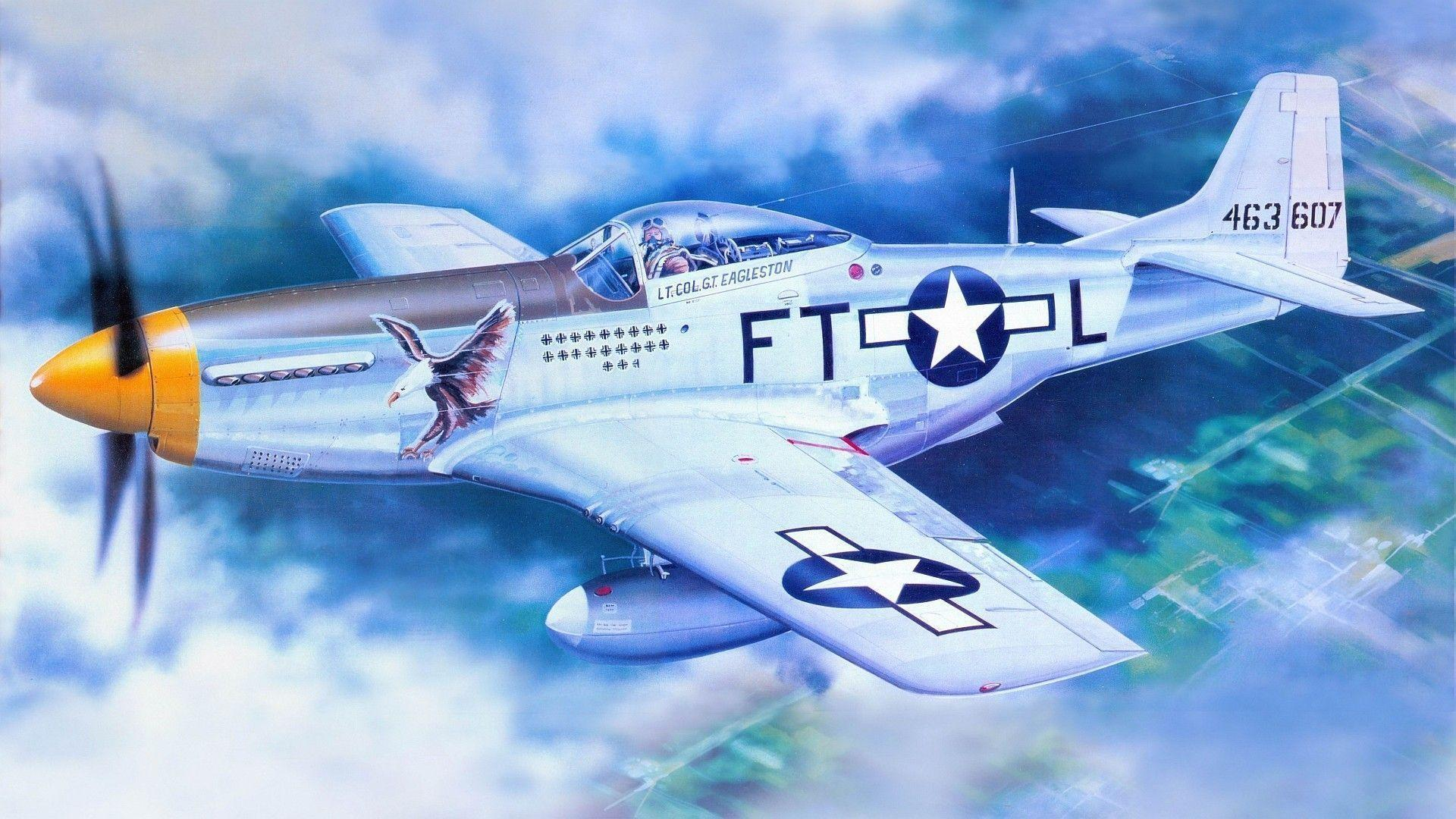 Download P 51 Mustang Wallpapers 1920X1080 Backgrounds 1 HD