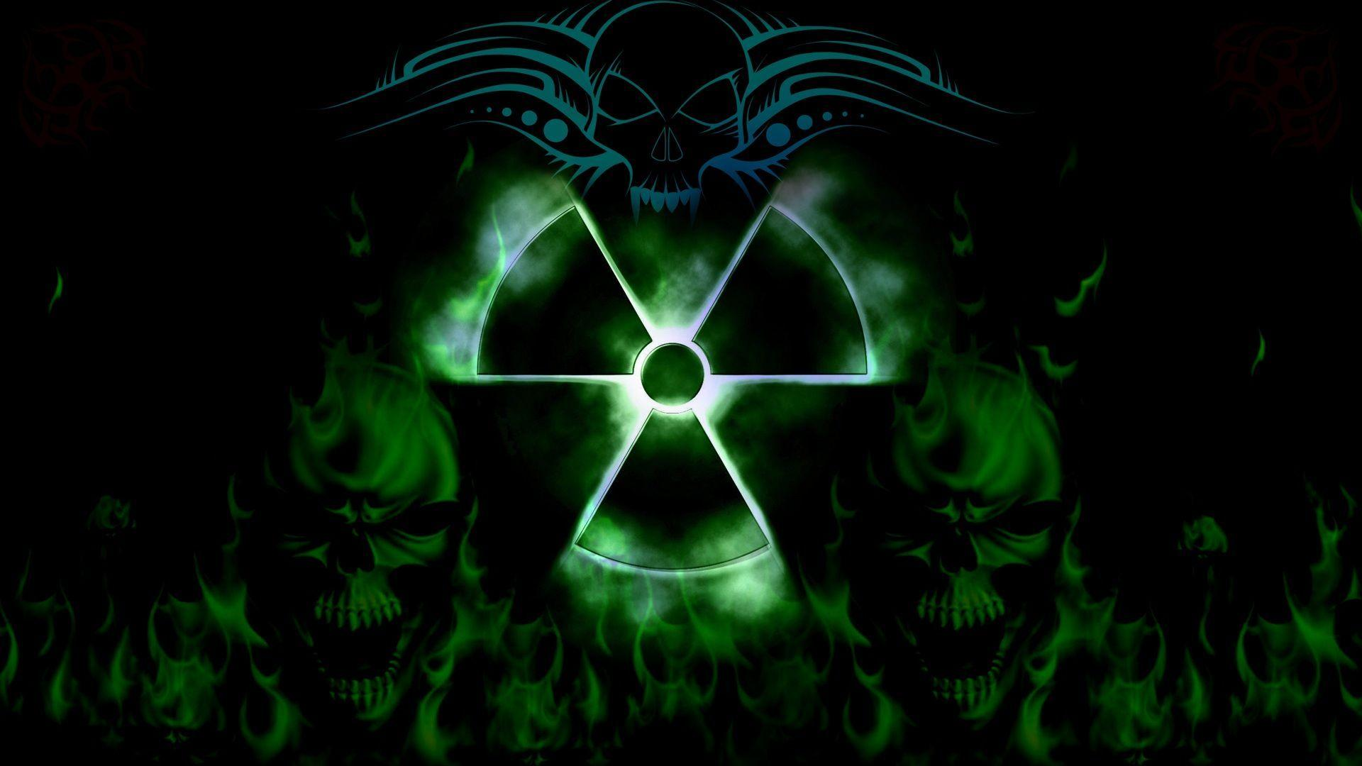 Wallpapers For > Cool Green And Black Skull Backgrounds