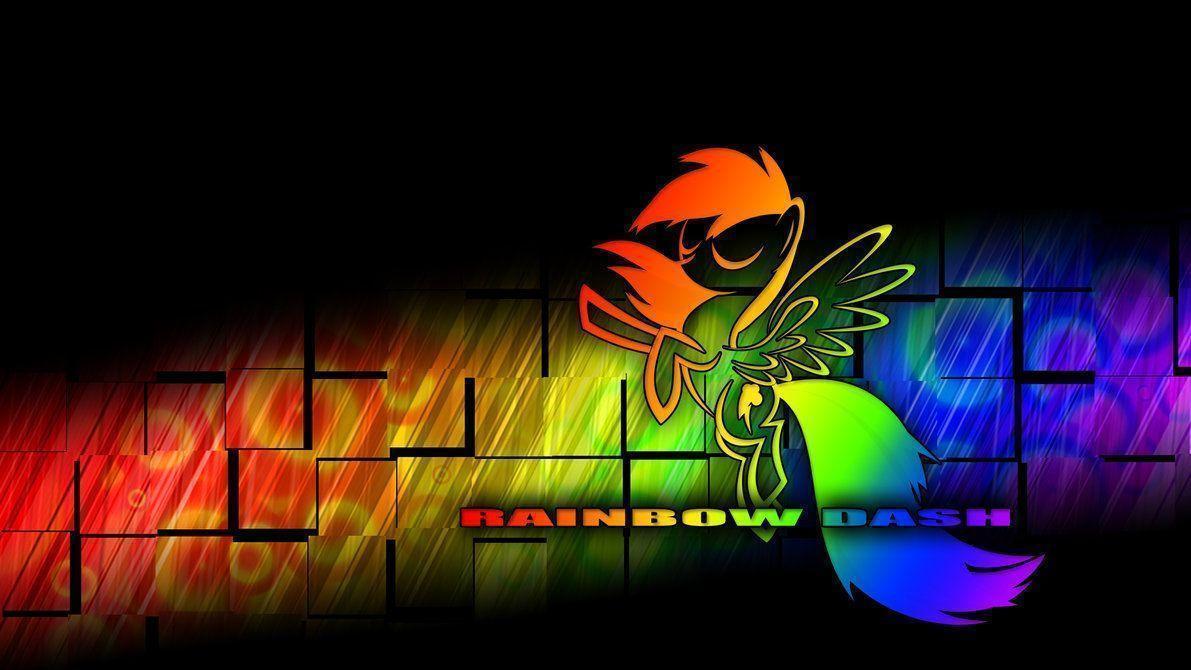 techno rainbow background - photo #27