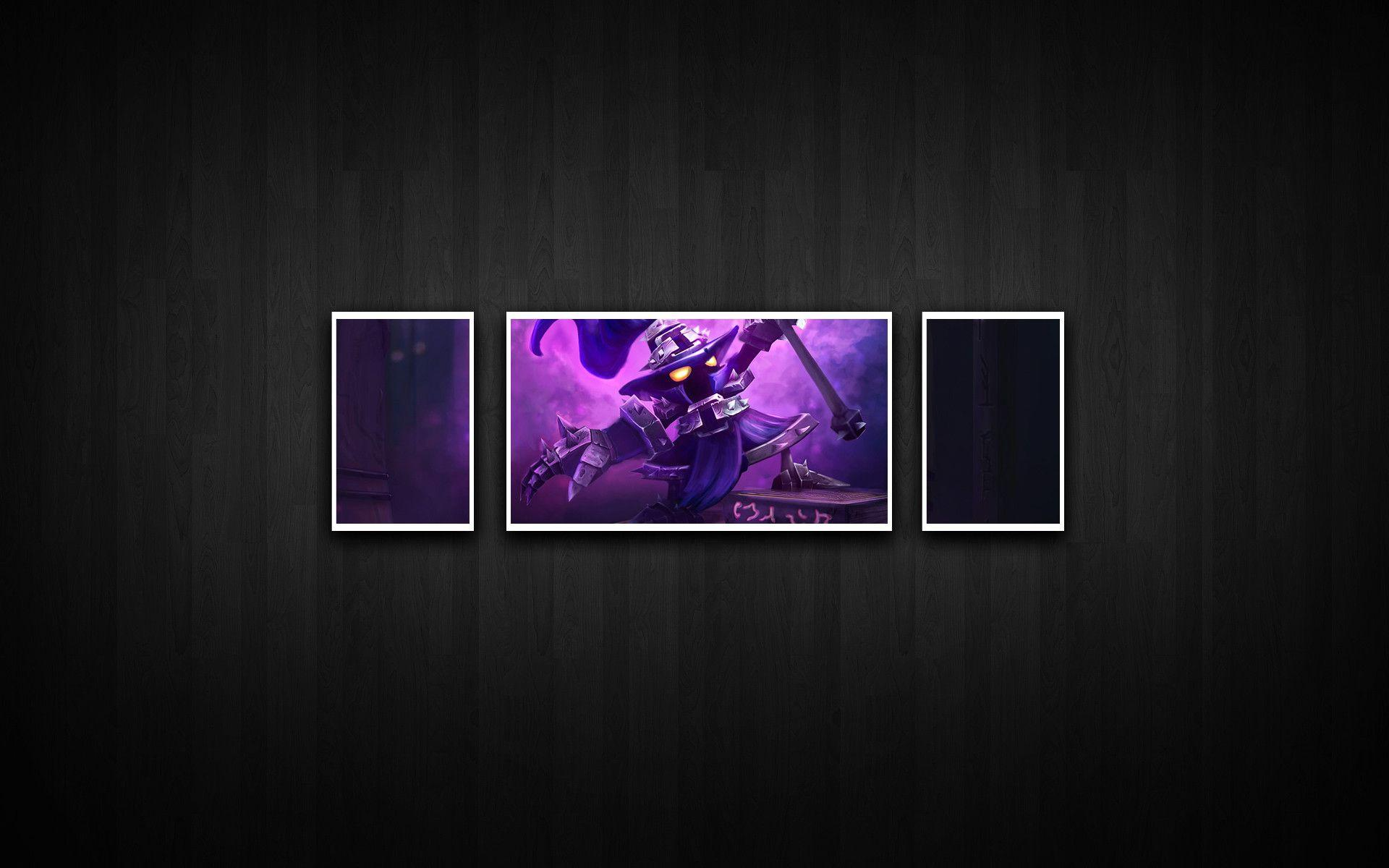 League Of Legends Black And Purple Veigar Wall Wallpapers