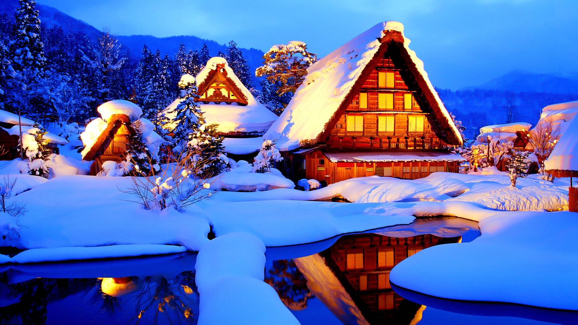 Winter cabin wallpapers wallpaper cave for House wallpaper 2017