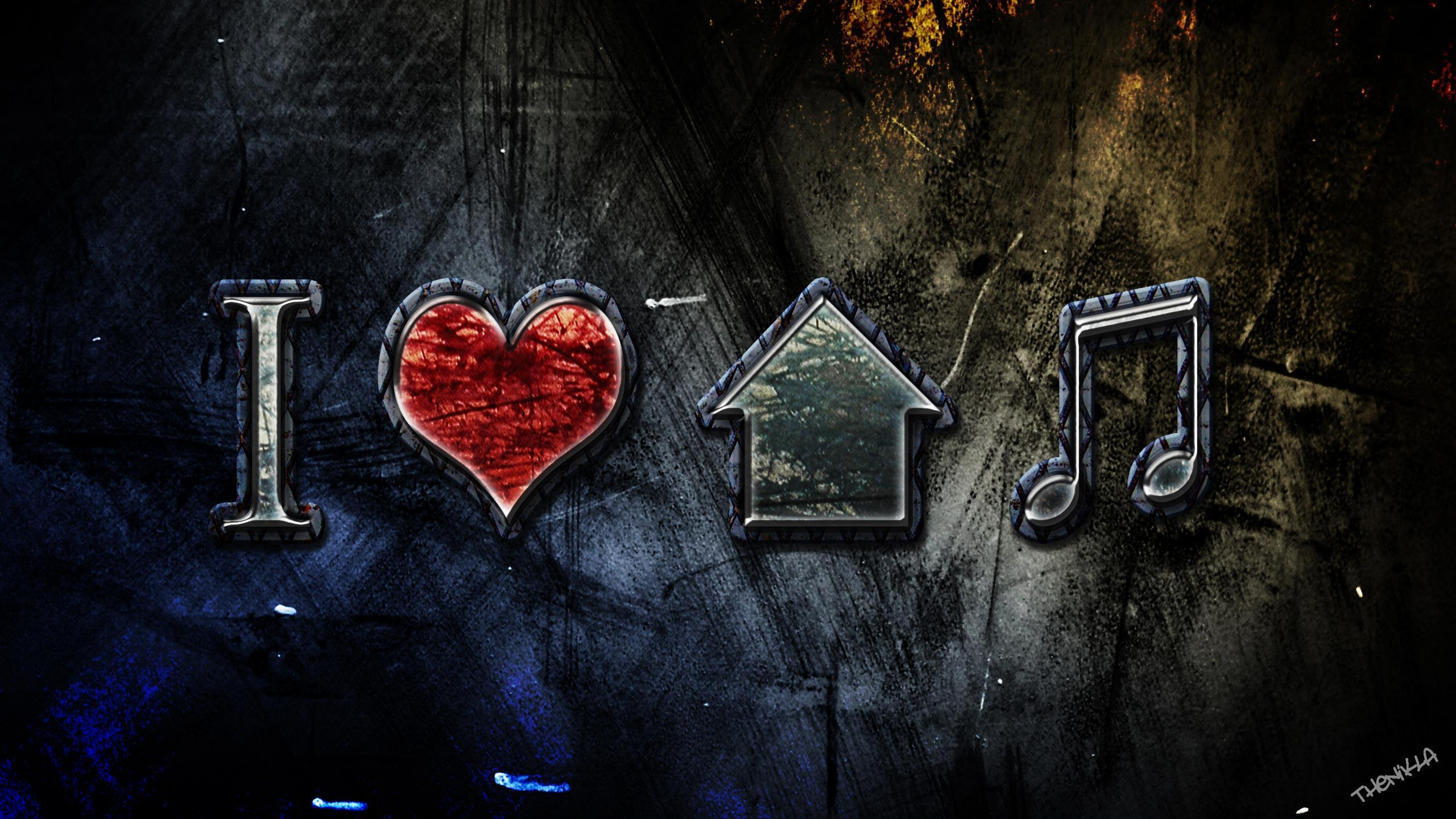 I Love House Music Wallpapers Wallpaper Cave
