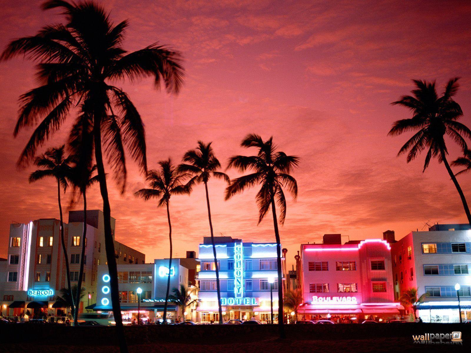 Miami Beach Skyline Wallpaper Watch Hd