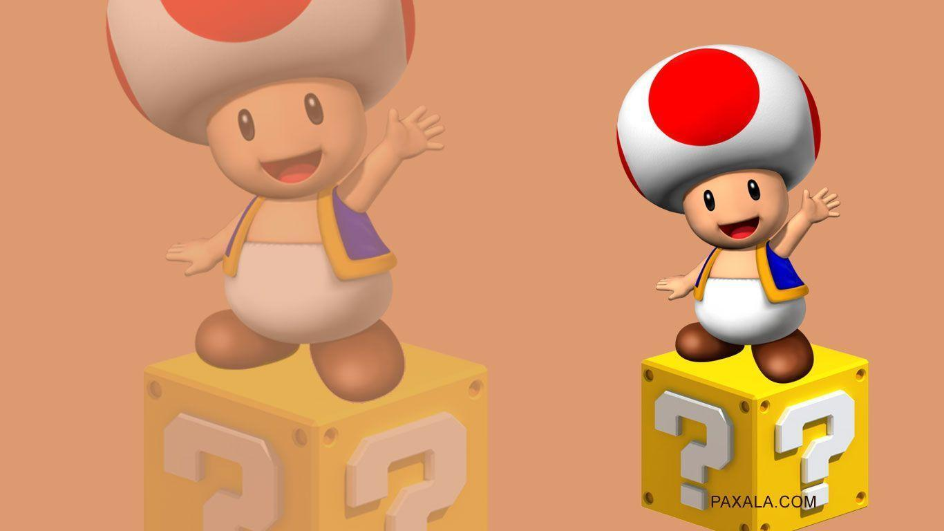 Wallpaper: Toad sobre cubo