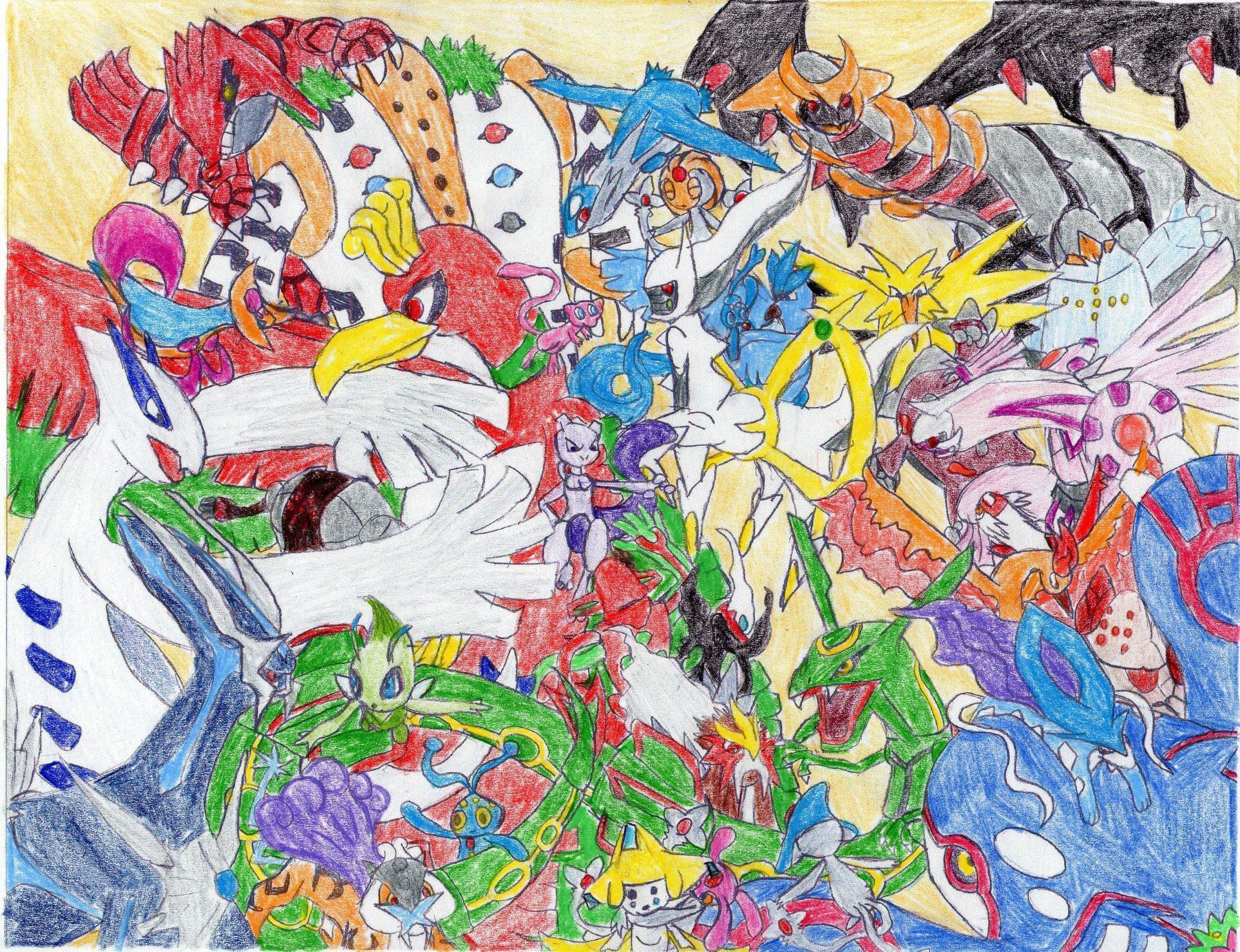 All Legendary Pokemon Wallpapers Wallpaper Cave