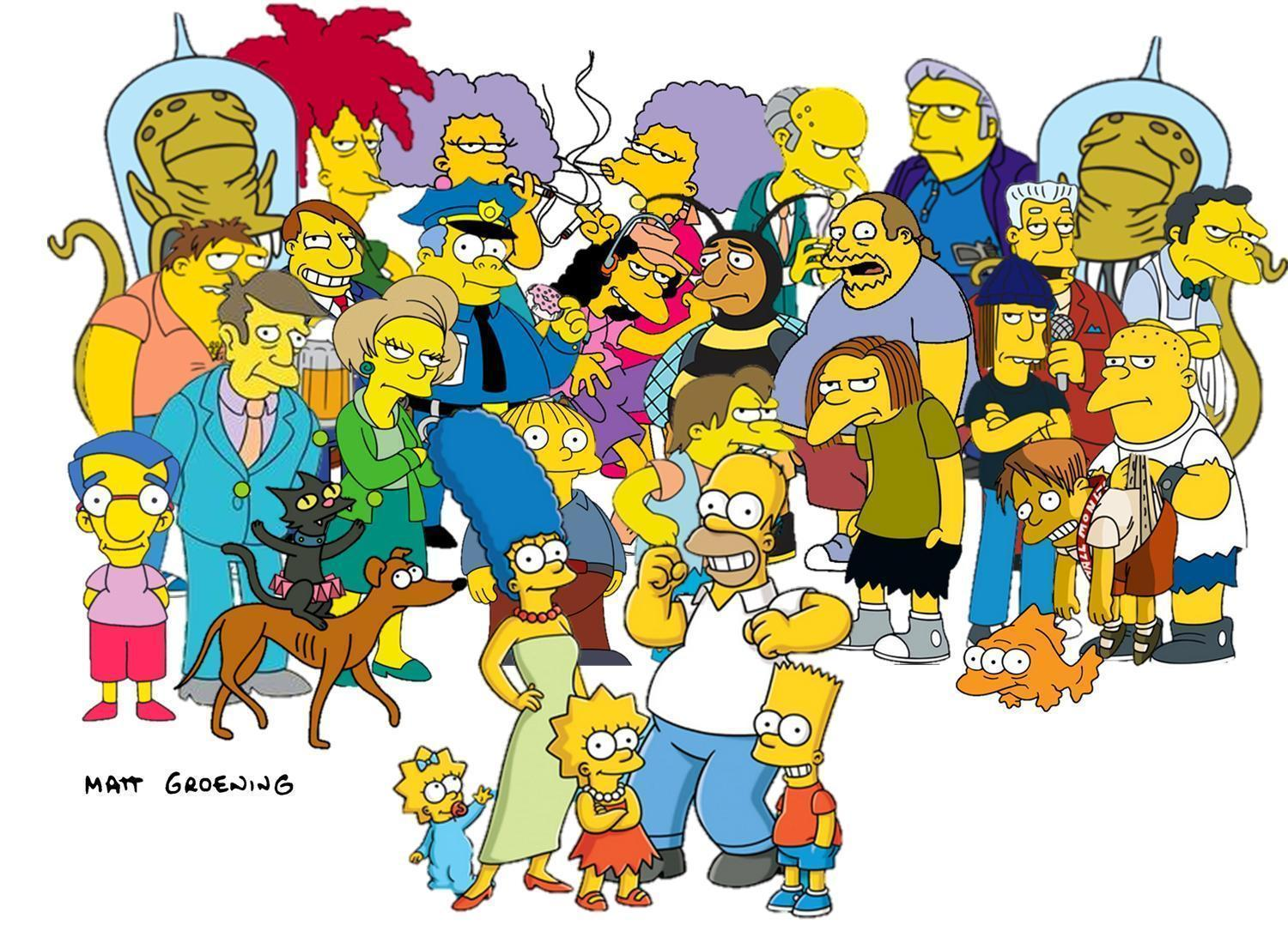 Cartoon Characters Simpsons : Simpsons characters wallpapers wallpaper cave