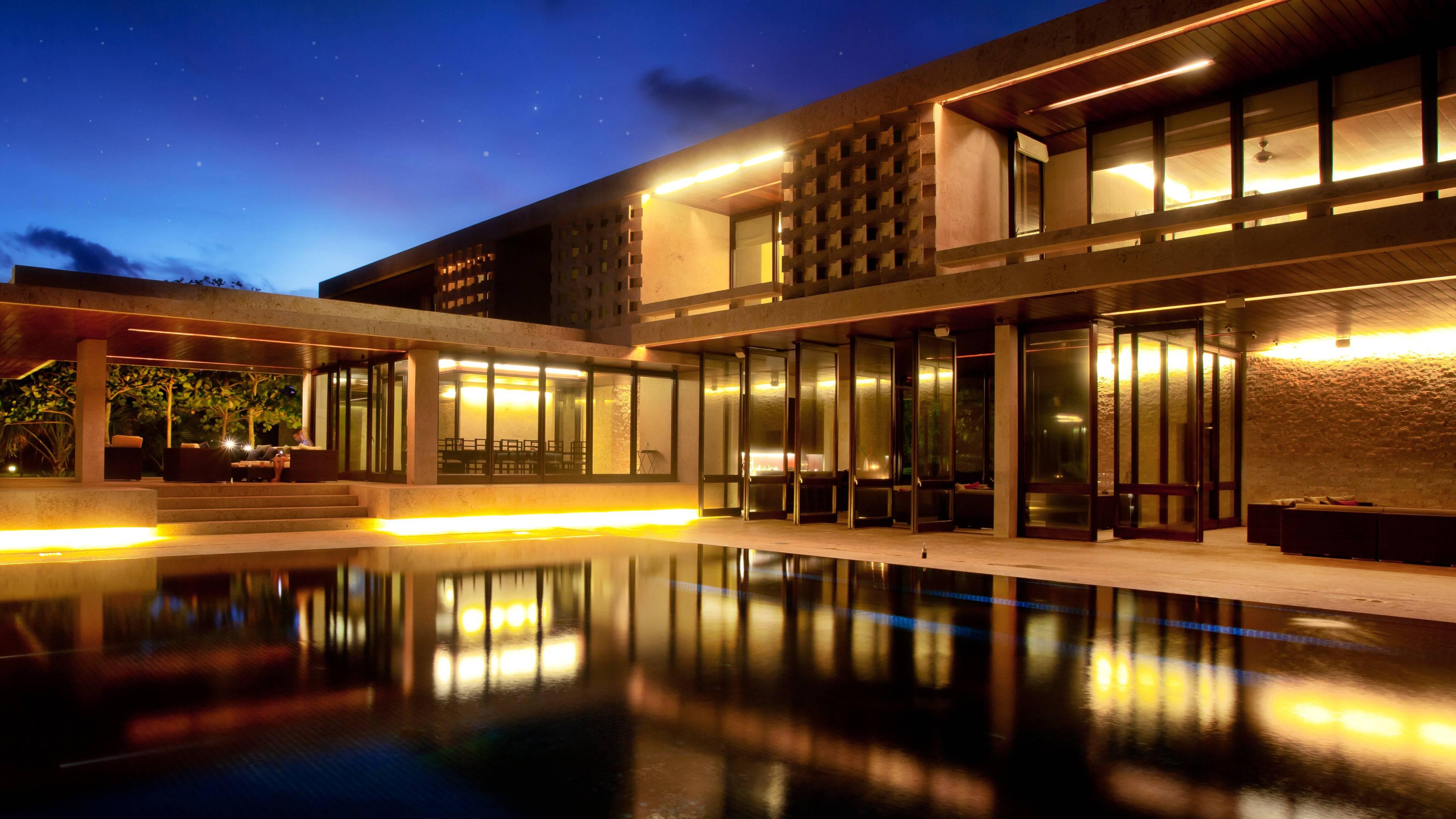 Dominican Republic, Cabrera, Casa Kimball, Nighttime Architecture ...