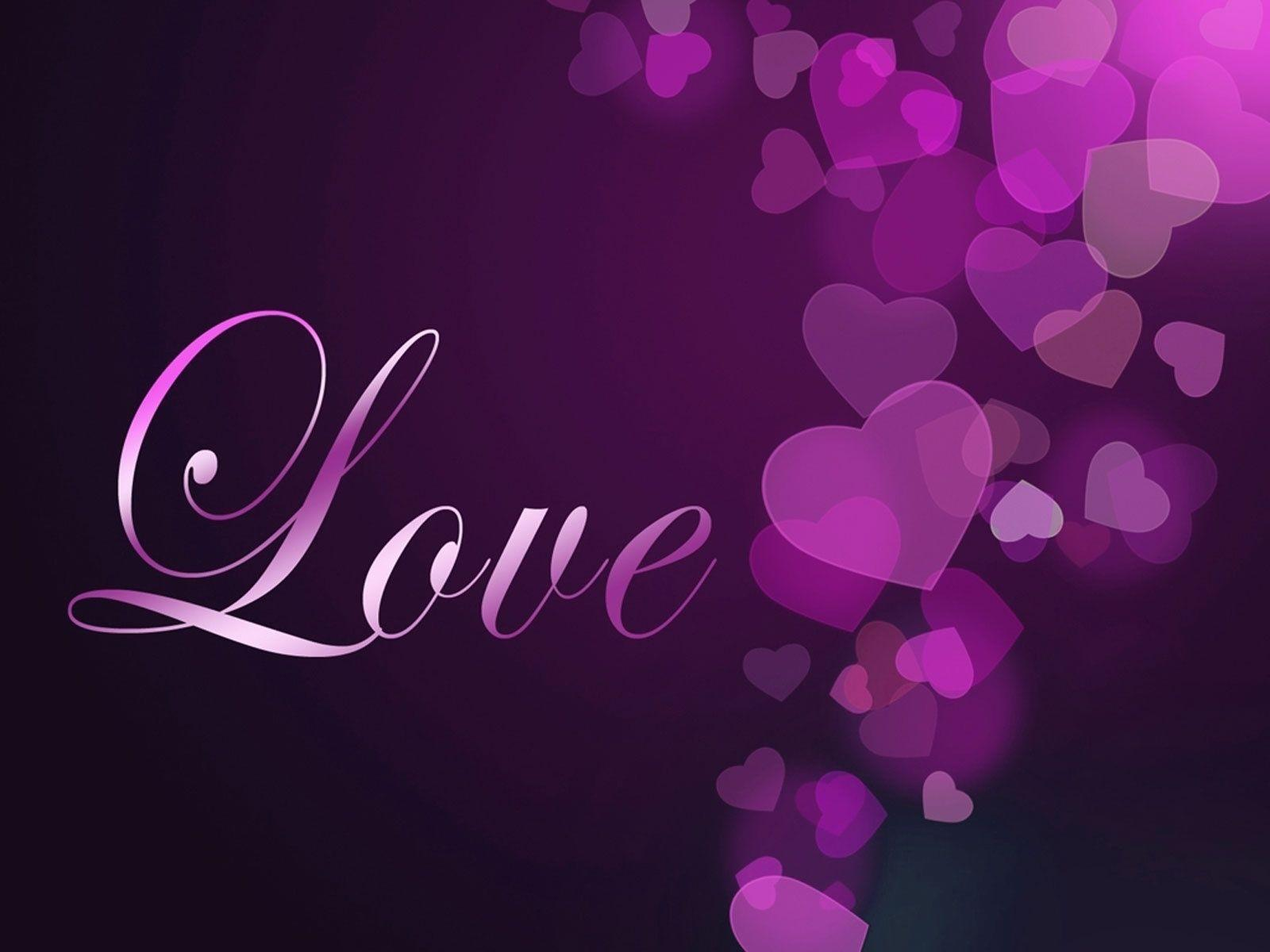 Love Wallpapers Set : Purple Heart Wallpapers - Wallpaper cave