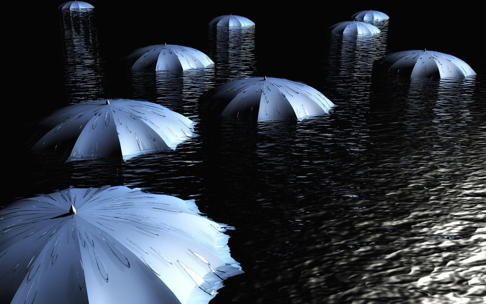 Wallpapers umbrella&in the dark water