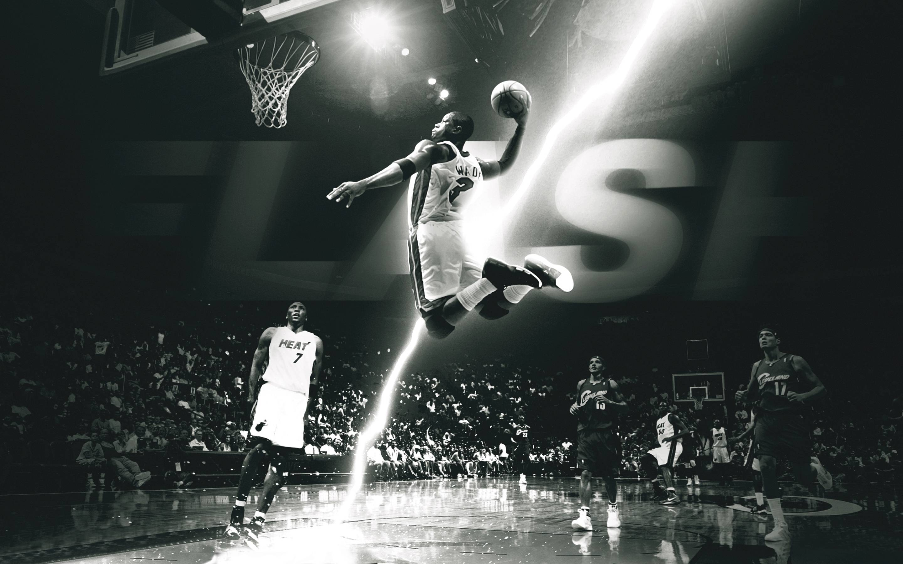 Cool Basketball Black And White: Dwyane Wade Wallpapers