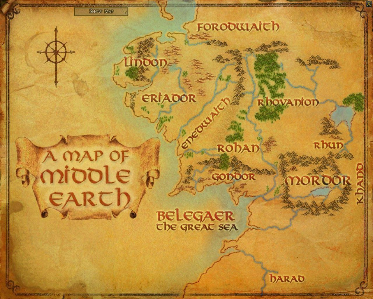 Map Of Middle Earth Wallpapers Wallpaper Cave