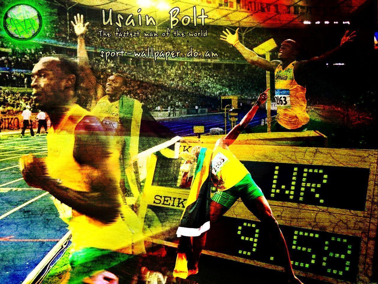 Usain Bolt wallpaper by WWW.SPORT-WALLPAPER.DO.AM 60023 - Olympics ...