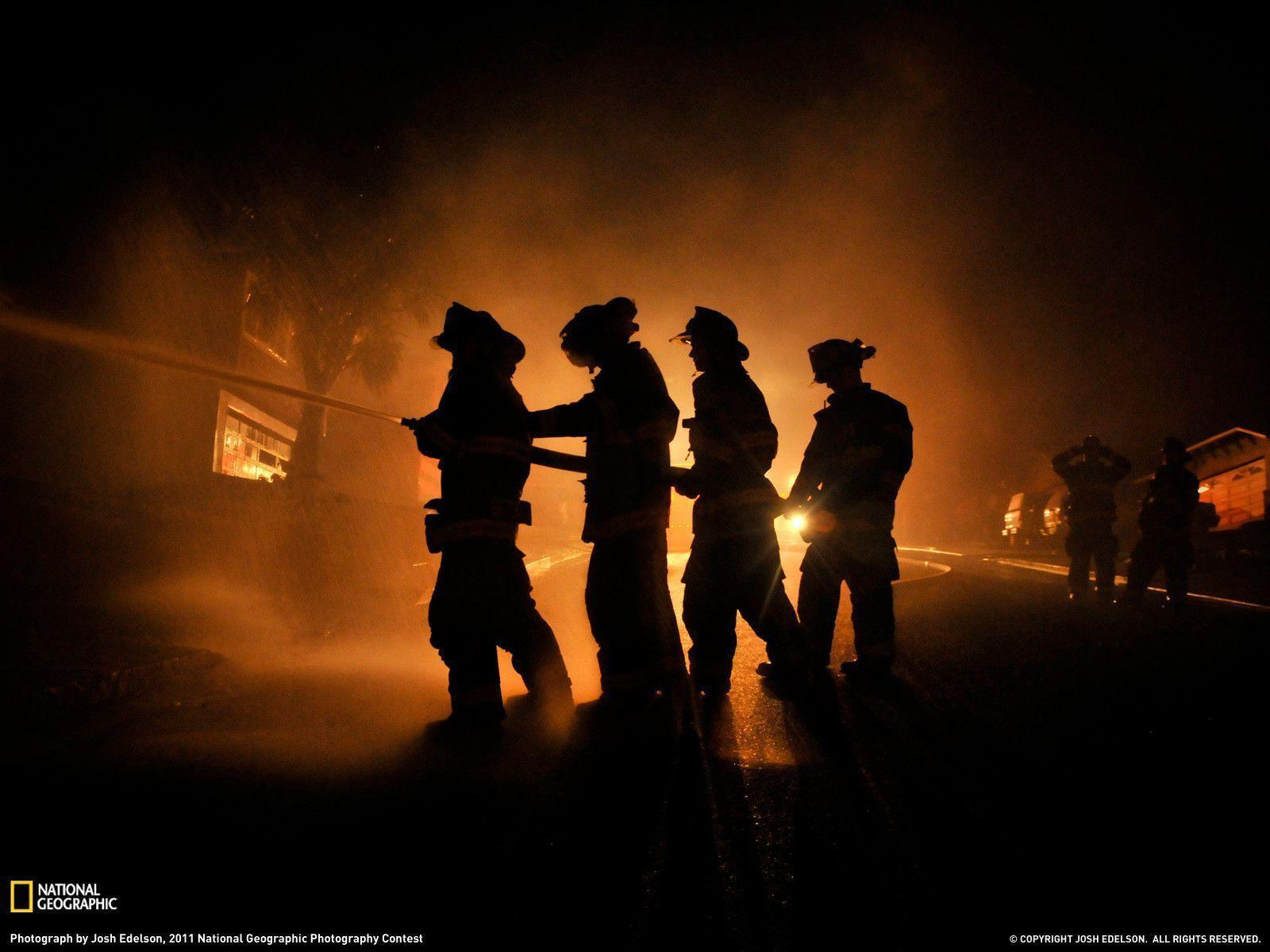 Firemen Photo – California Wallpapers – National Geographic Photo