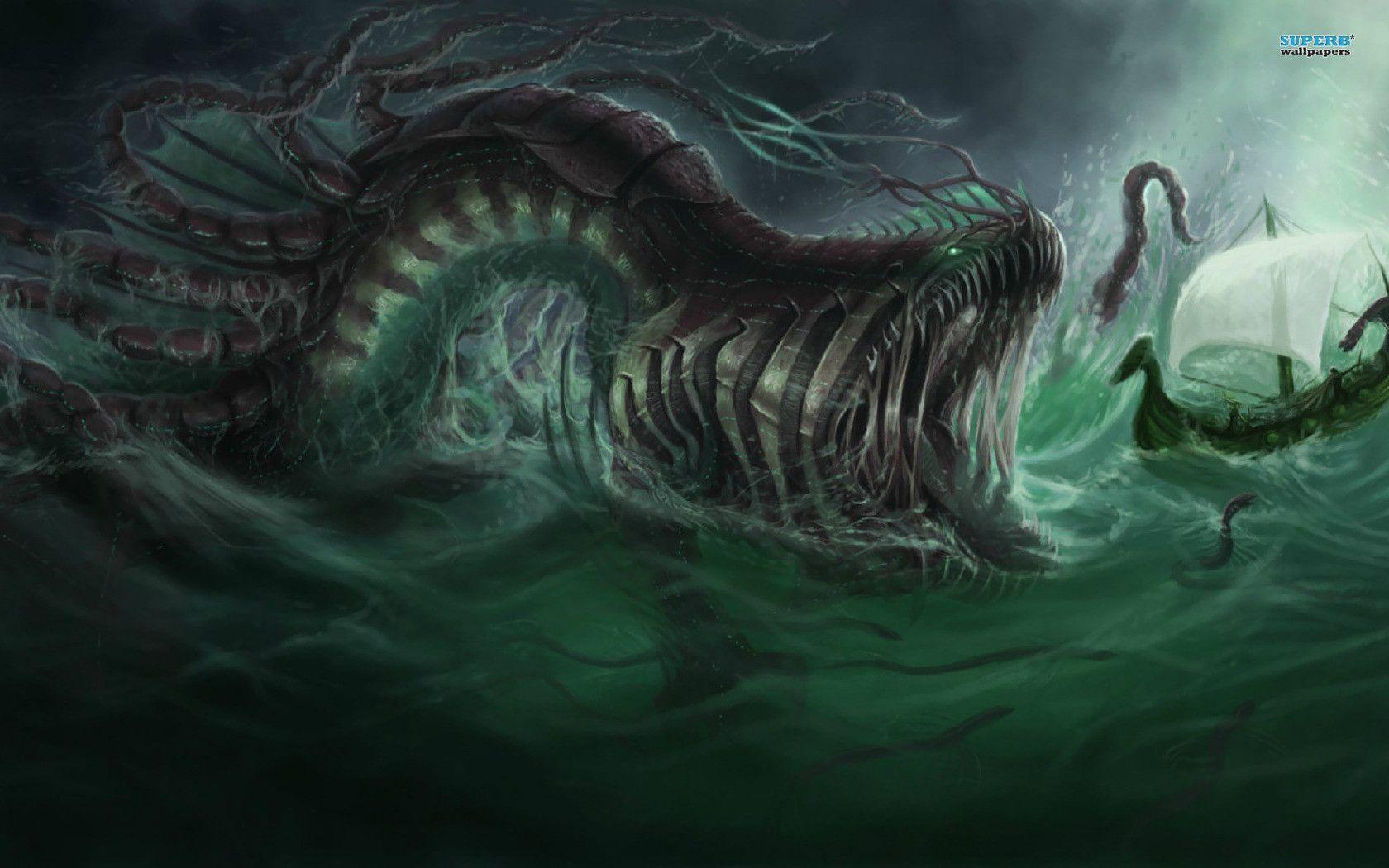 sea monster wallpapers wallpaper cave