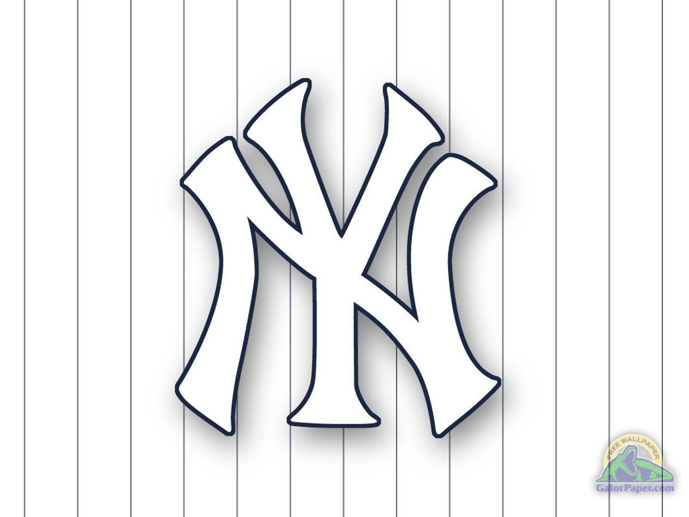 New York Yankees Logo Wallpapers Wallpaper Cave New York Yankees Coloring Pages