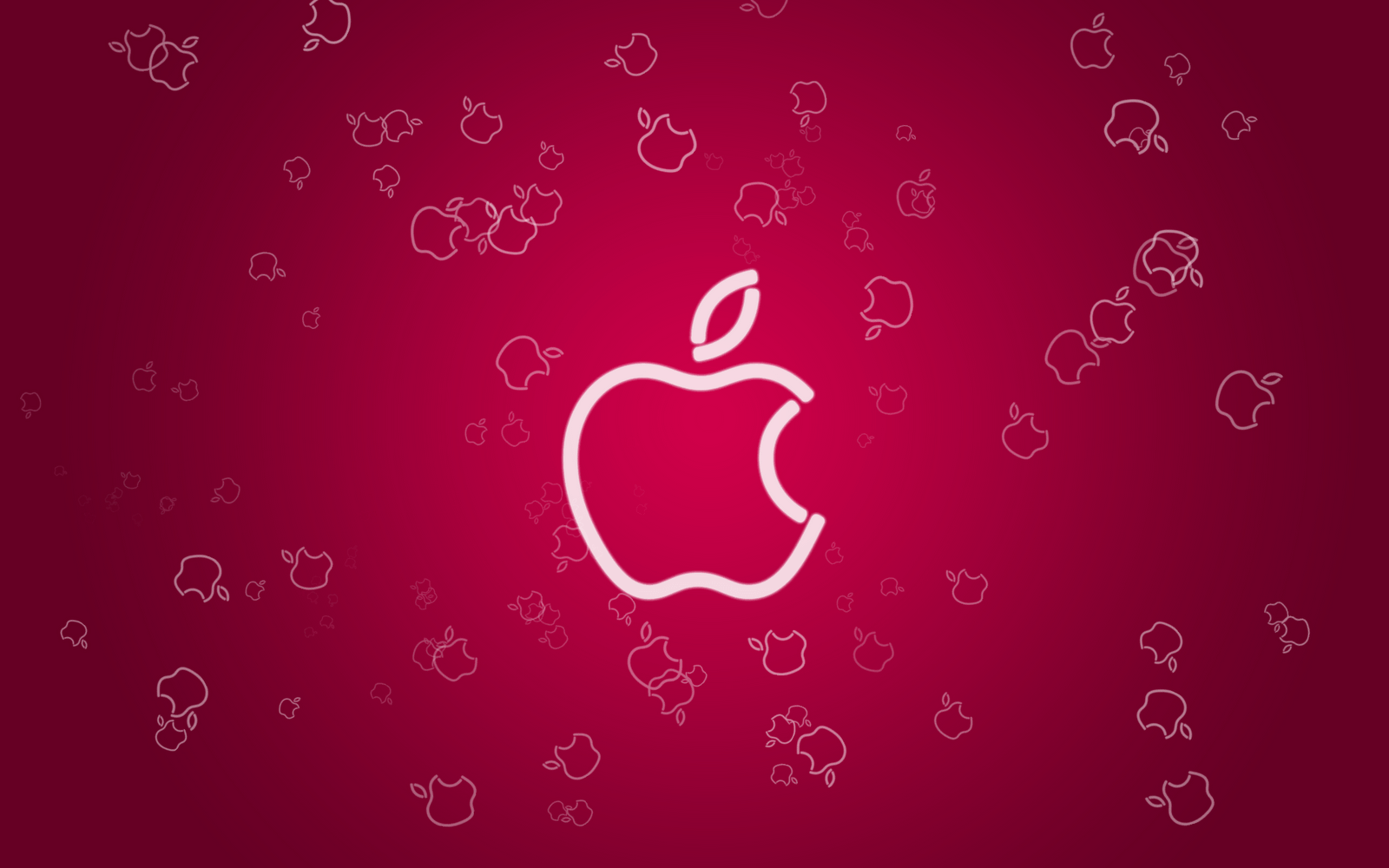 Wallpapers For > Red Apple Logo Wallpapers Hd