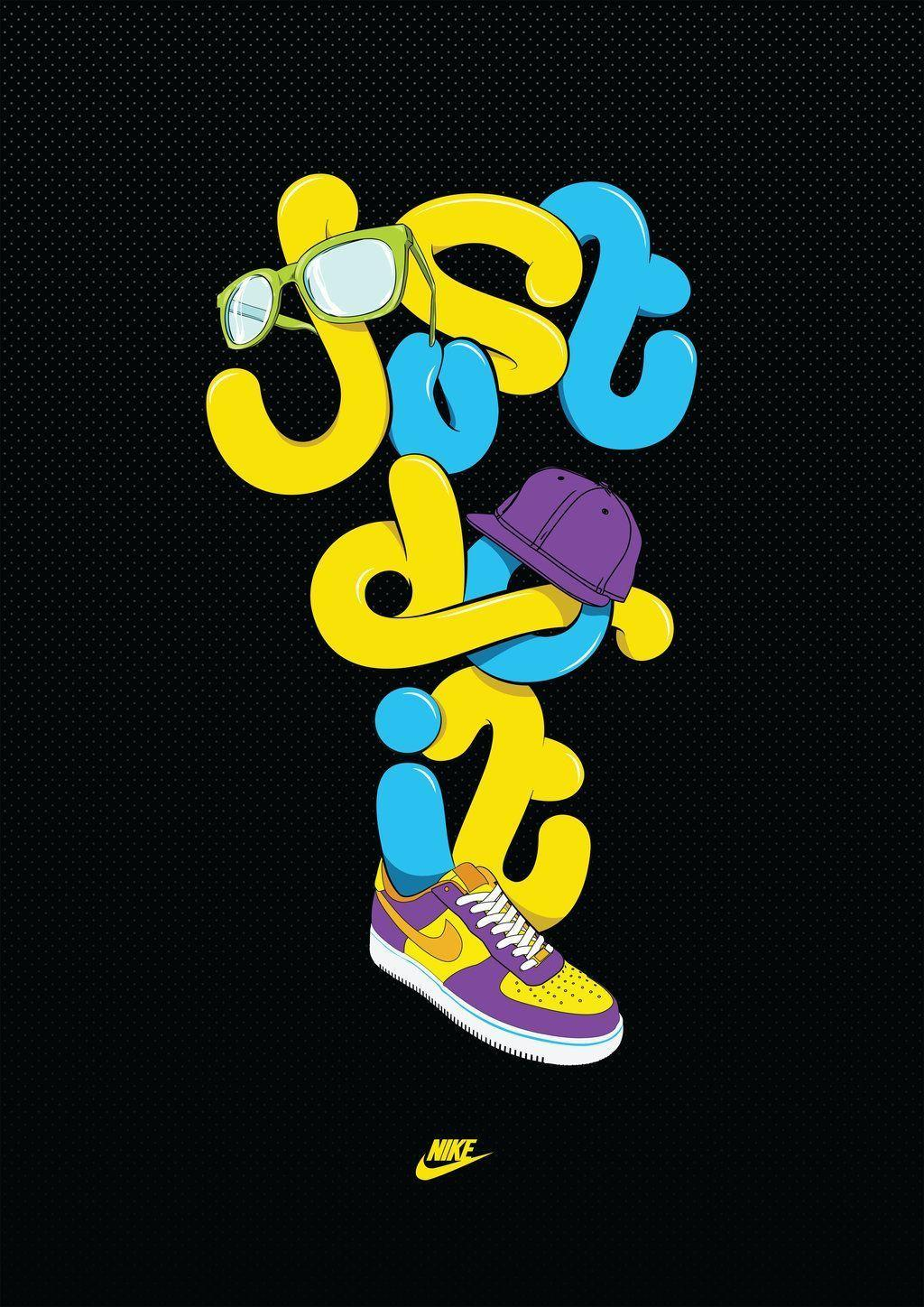 Nike just do it wallpaper colorful