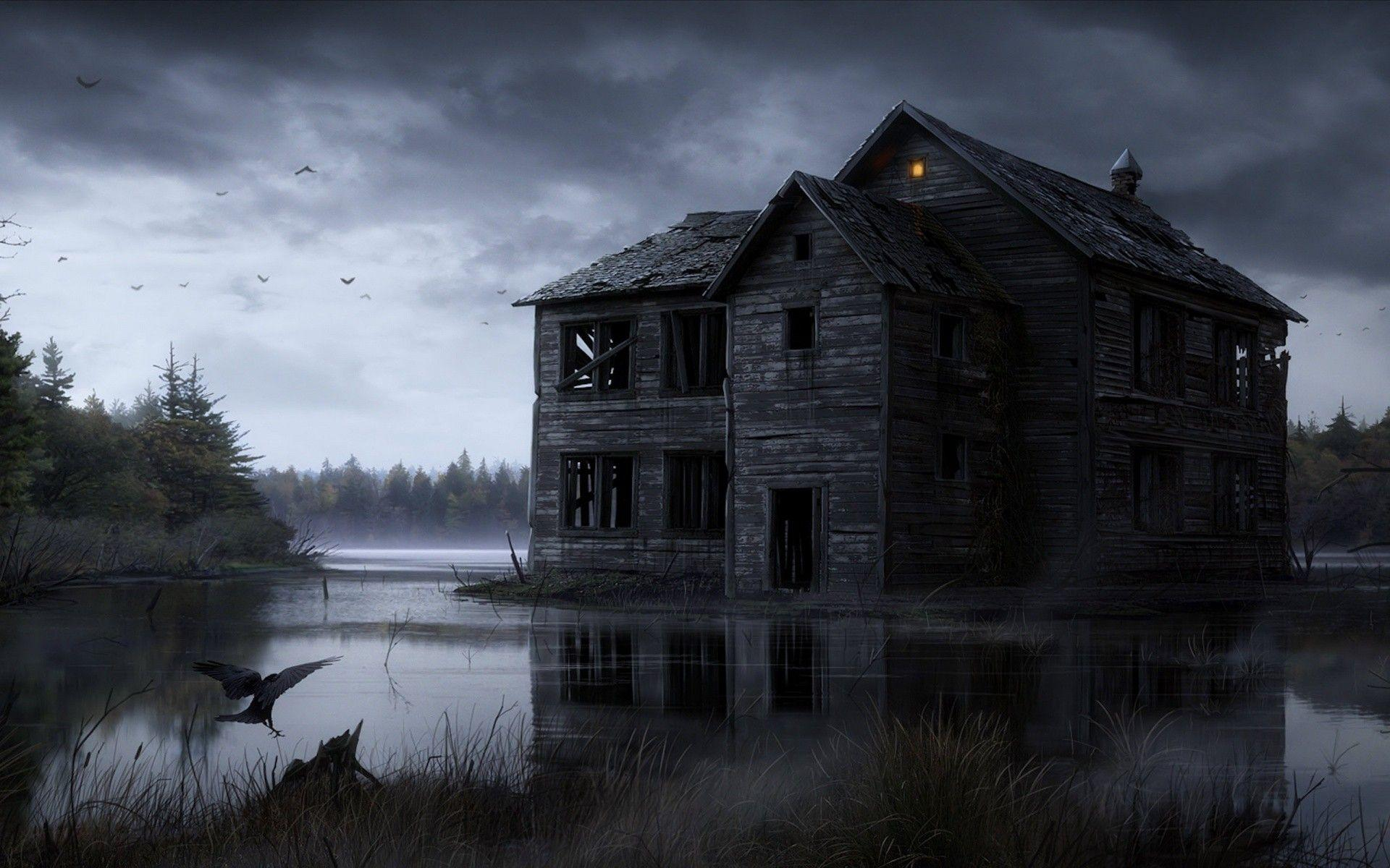 Haunted house wallpapers wallpaper cave for Wallpaper home photos