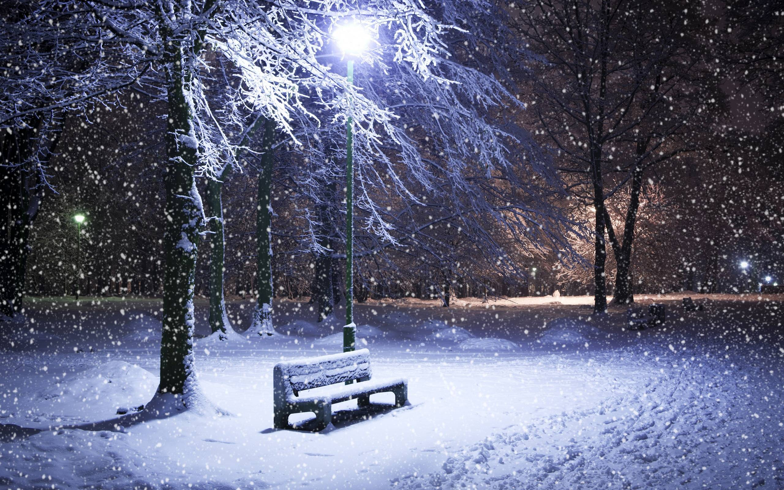 Winter Night Wallpaper 11410 Full HD Wallpaper Desktop - Res .