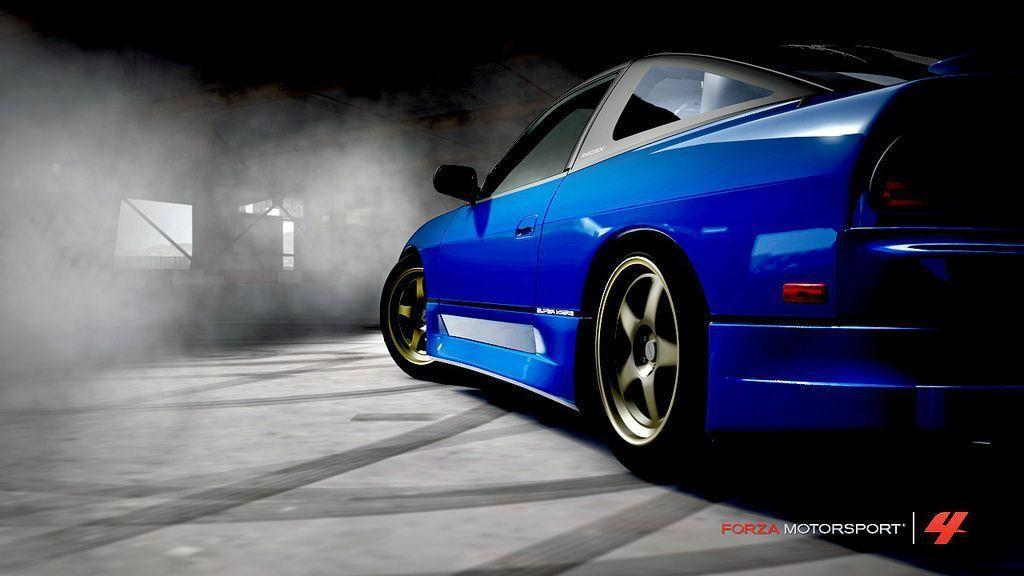 Blue color Nissan 240SX Wallpapers - All cars wallpapers