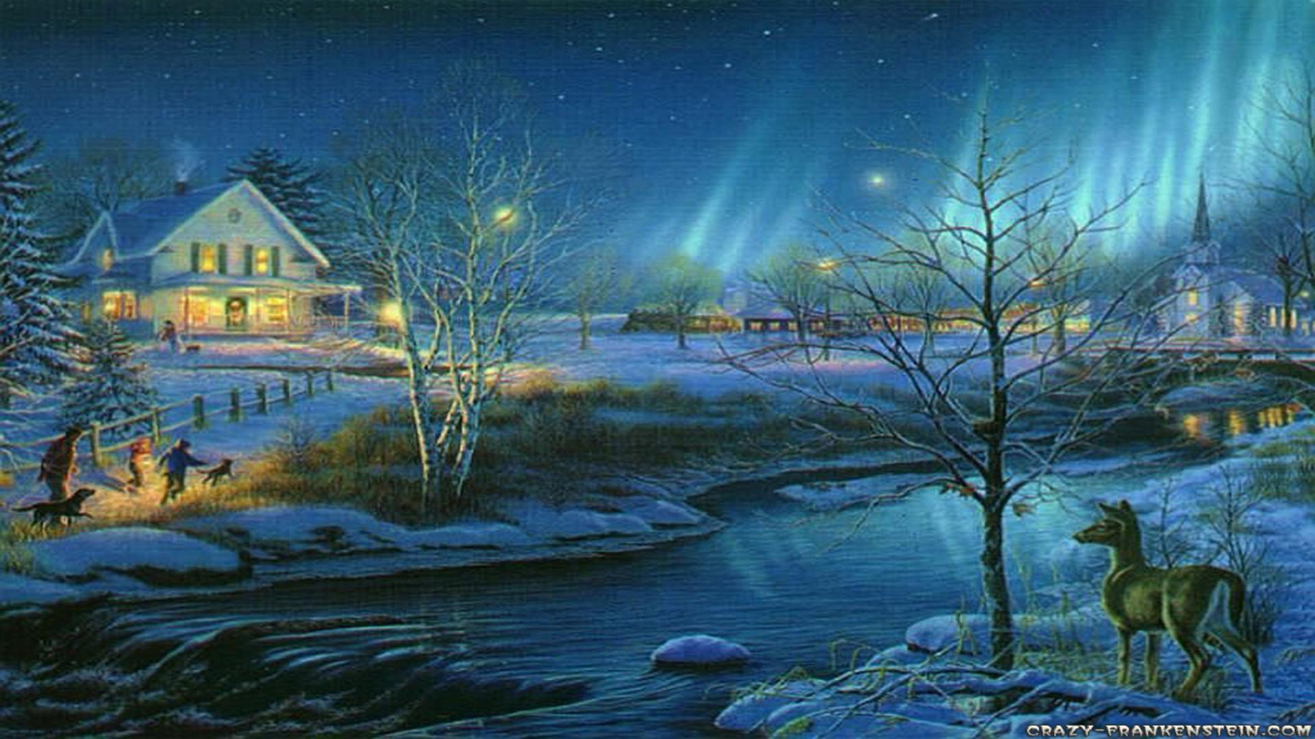Christmas Scenes Wallpapers Free