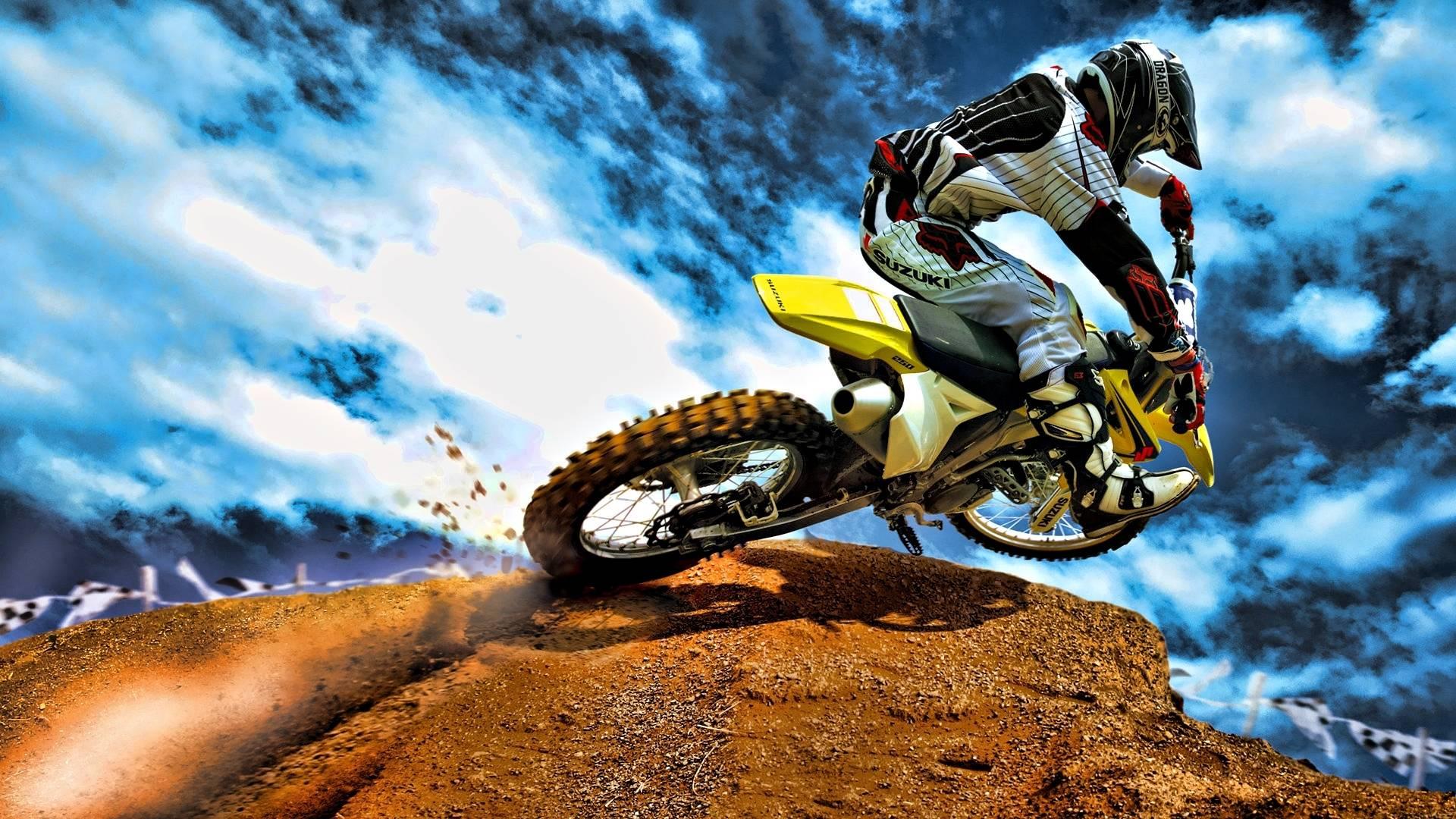 stunt bike hd wallpaper