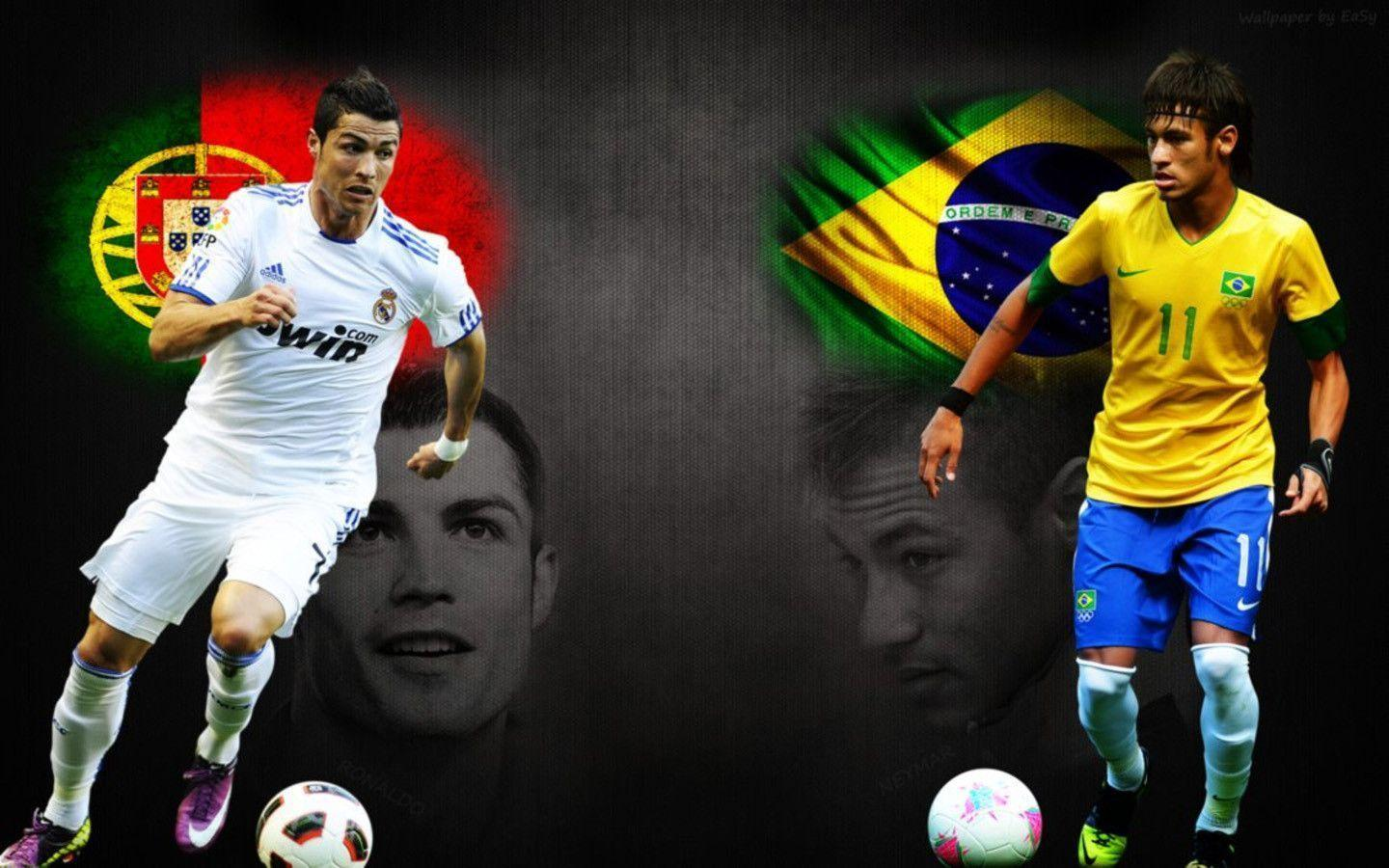 Neymar VS Cristiano Ronaldo high resolution image for desktop