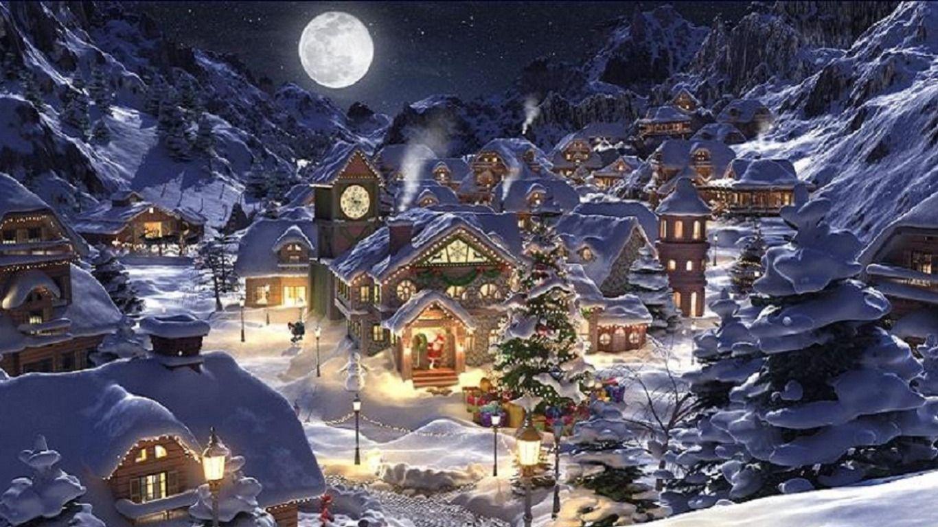 Christmas scenery wallpapers wallpaper cave for Sfondi invernali hd