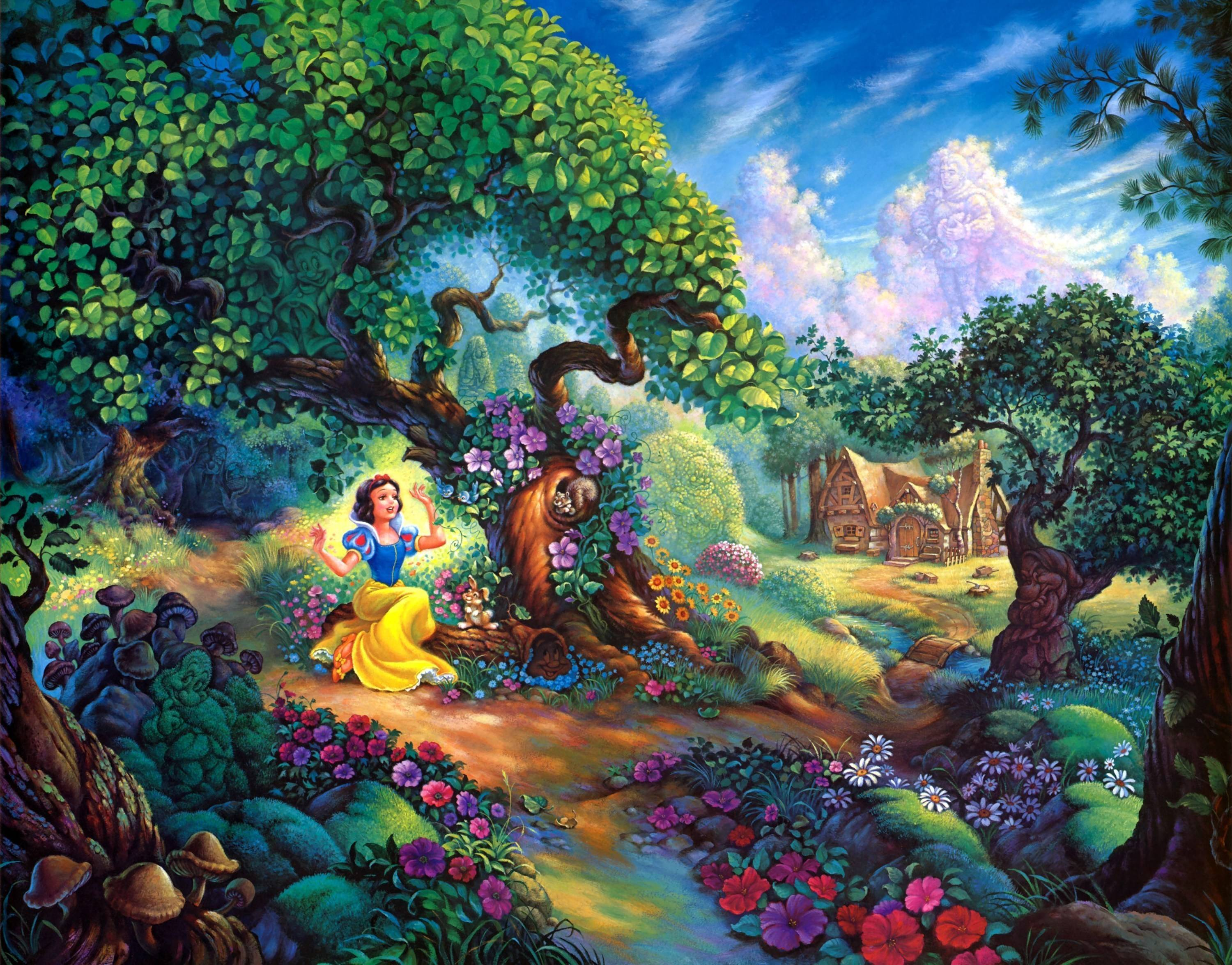 Snow White And The Seven Dwarfs Wallpapers Wallpaper Cave
