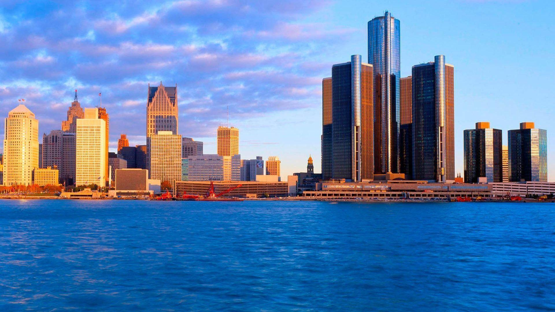 Detroit Skyline Wallpapers Wallpaper Cave