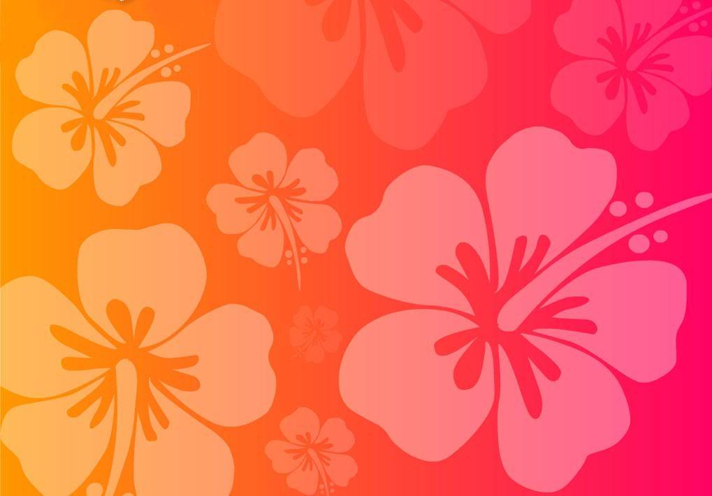 PICZAR Pink Hawaiian Flowers Background