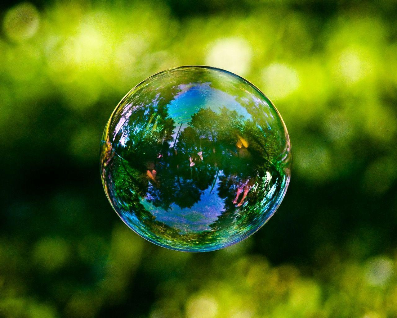 Wonderful wallpapers with soap bubble