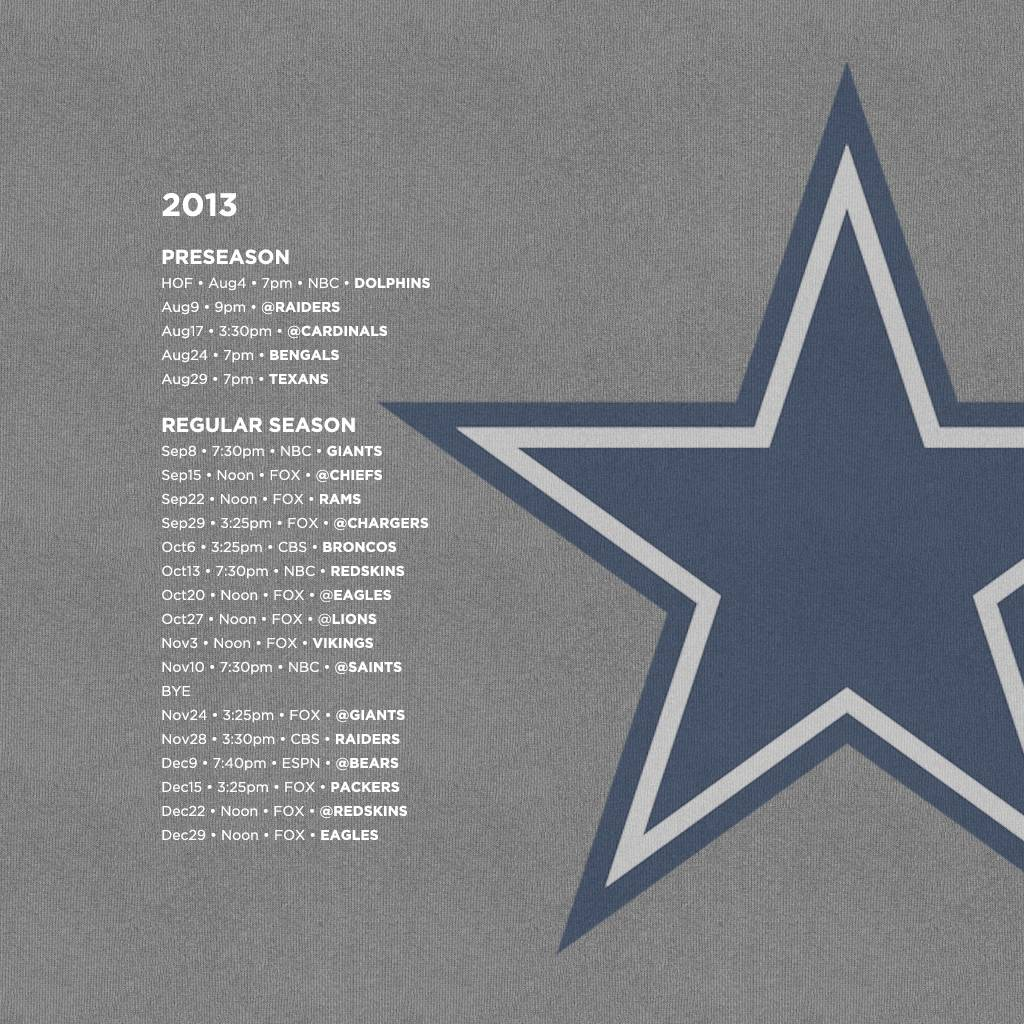 Download Our Dallas Cowboys Schedule Wallpapers For Your IPhone