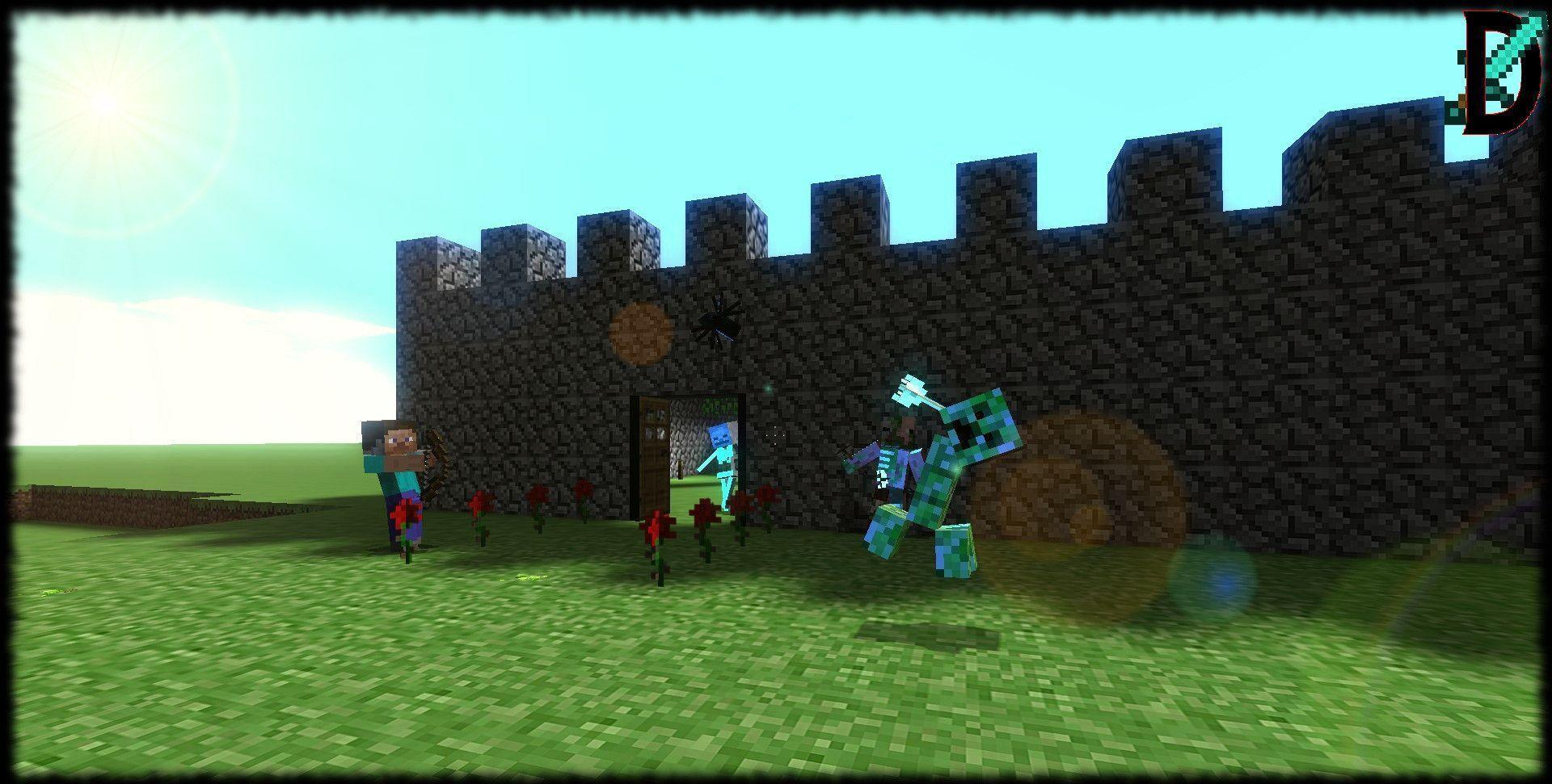 Creeper,Headshot! Minecraft Background,Skelly! by Deathassassin05 ...