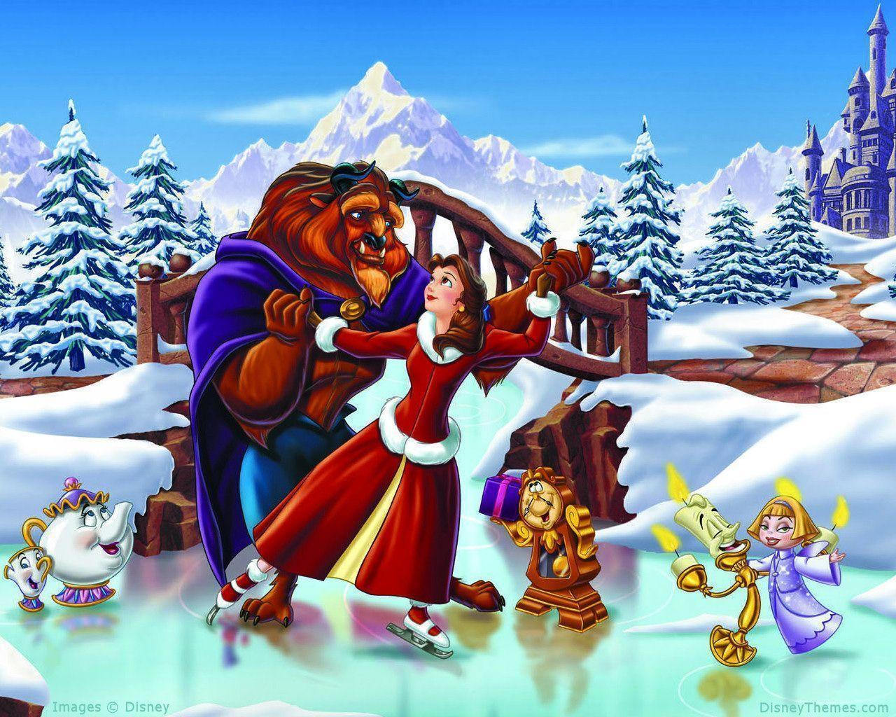 Wallpapers For > Disney Christmas Wallpaper Backgrounds